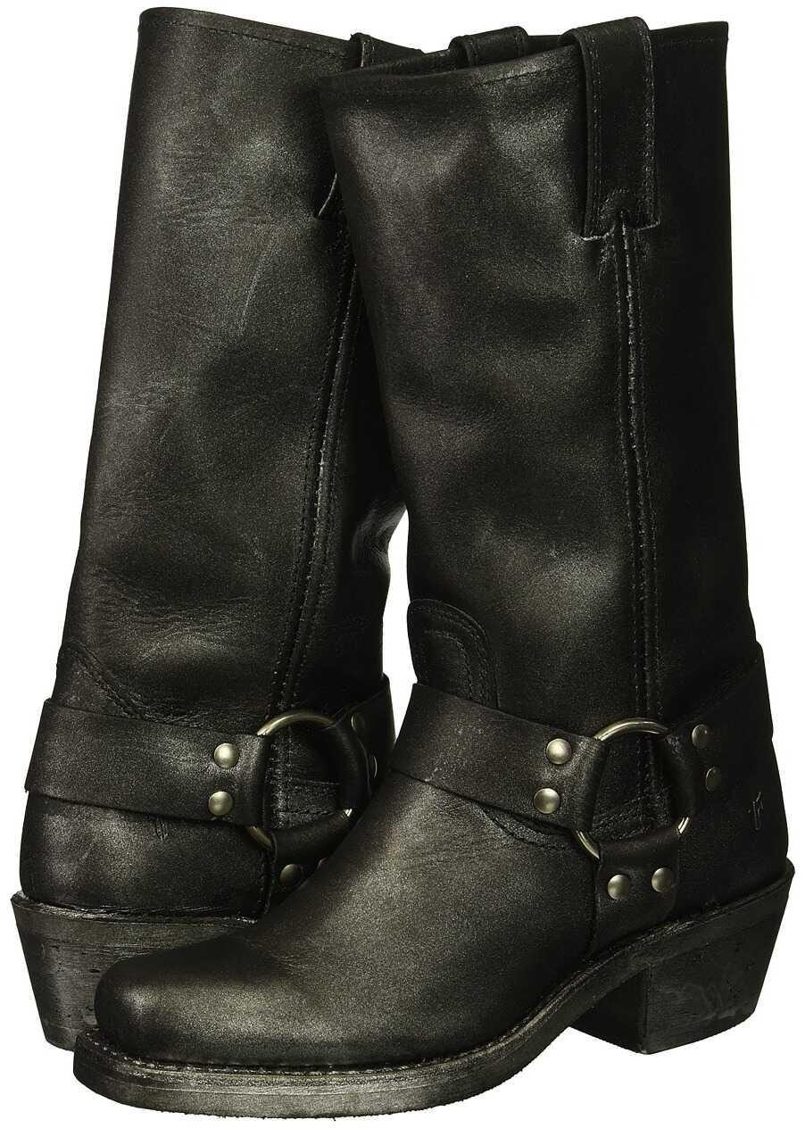 Frye Harness 12R Black Multi Metallic Oiled Leather