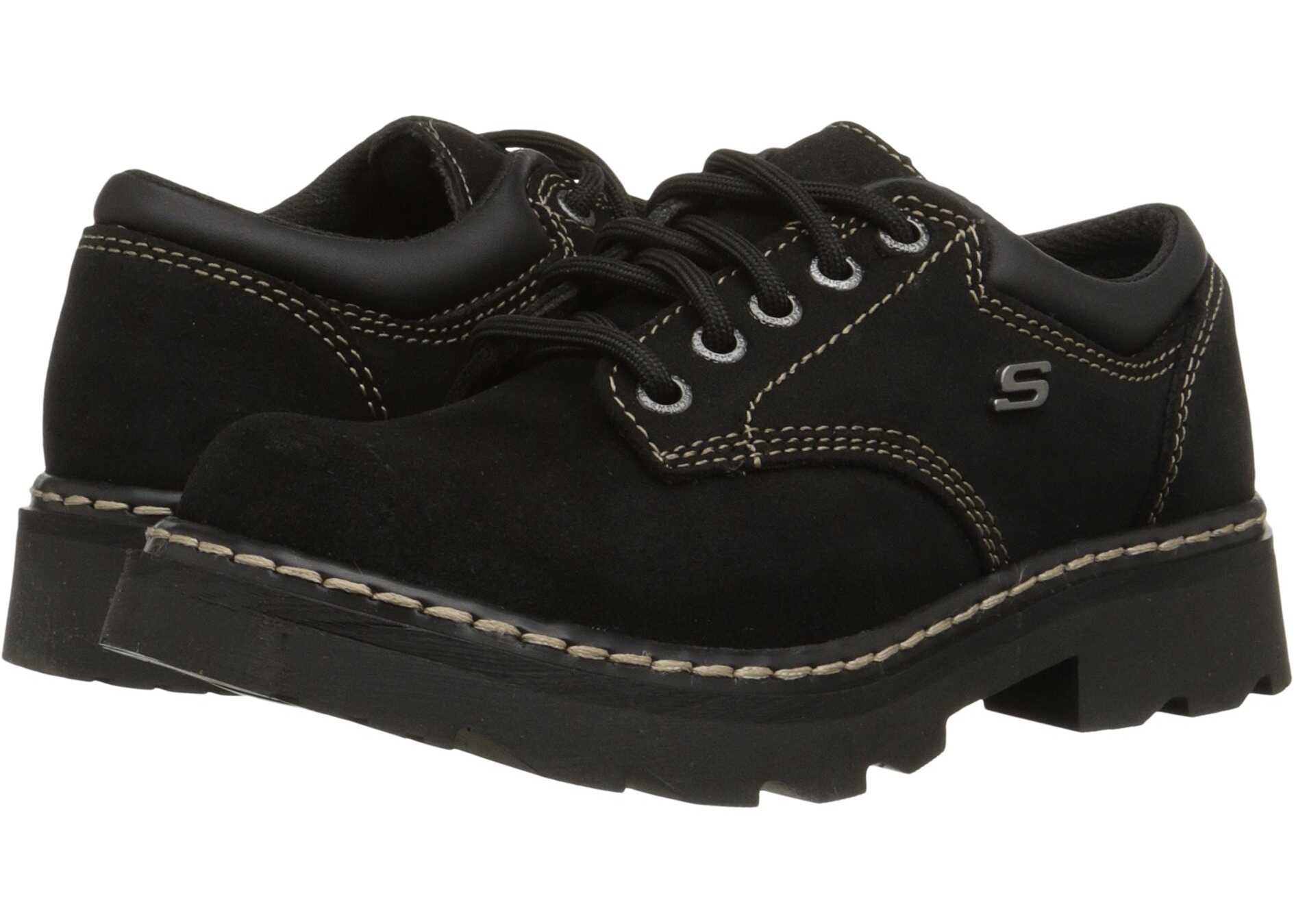 SKECHERS Parties - Mate Black Scuff Resistant Leather