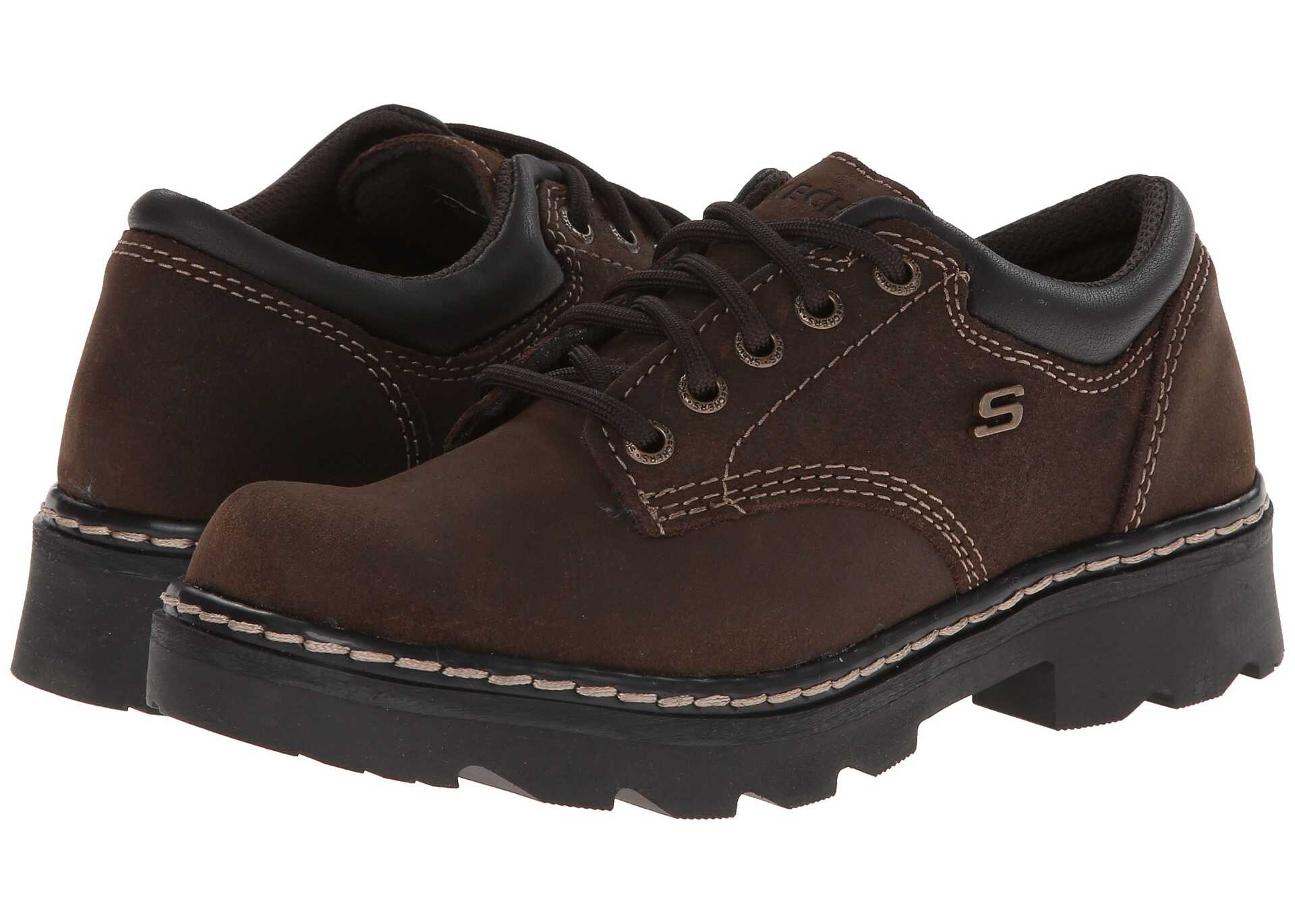 SKECHERS Parties - Mate Chocolate Scuff Resistant Leather
