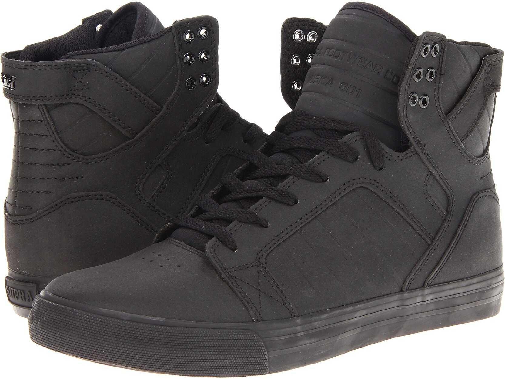Pantofi Sport Barbati Supra Skytop Black Satin Tuf