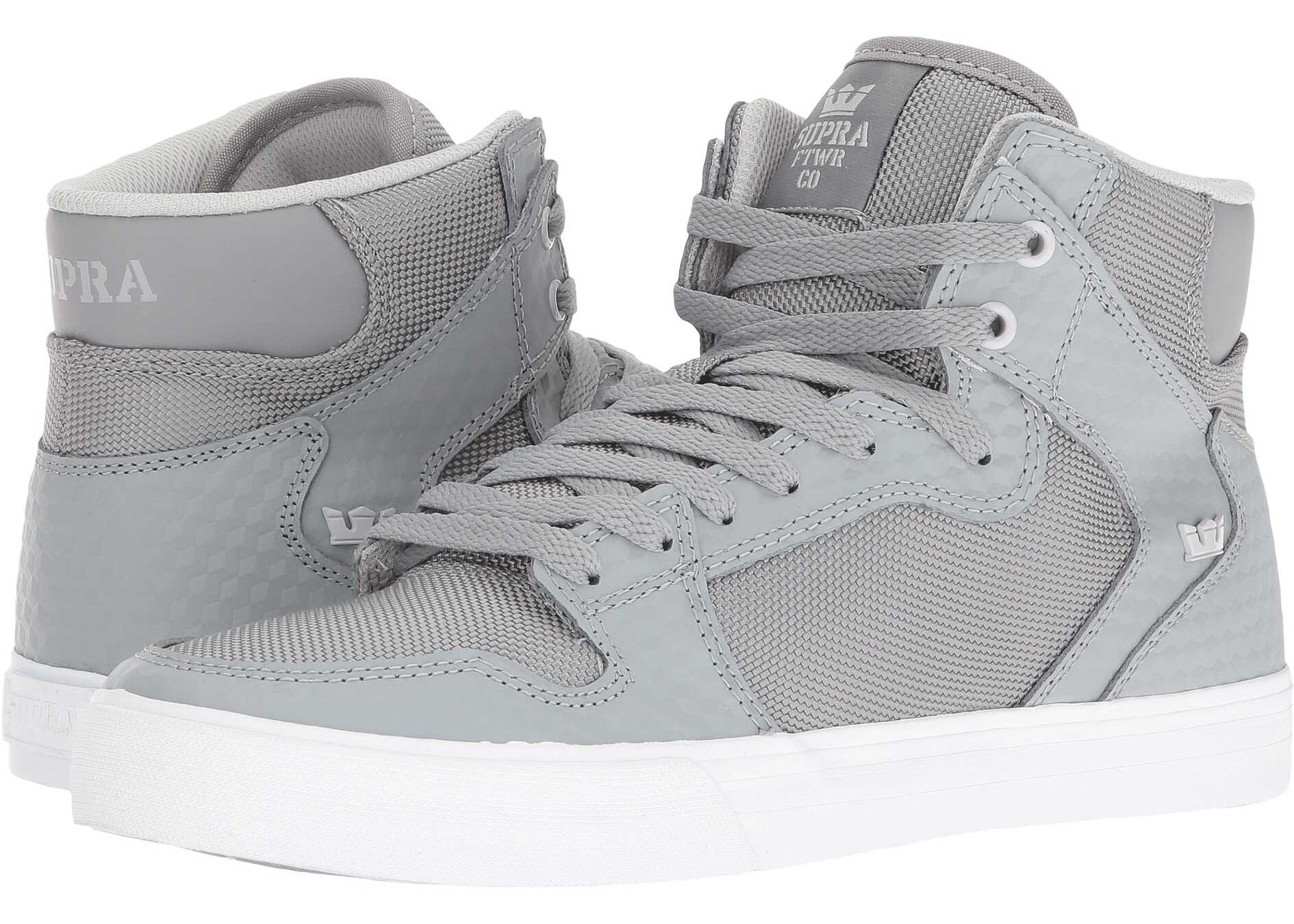 Supra Vaider Grey Leather/White