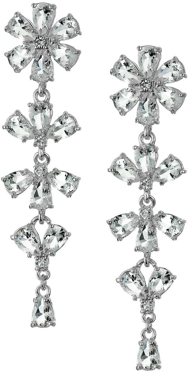 Kate Spade New York Crystal Arches Linear Earrings