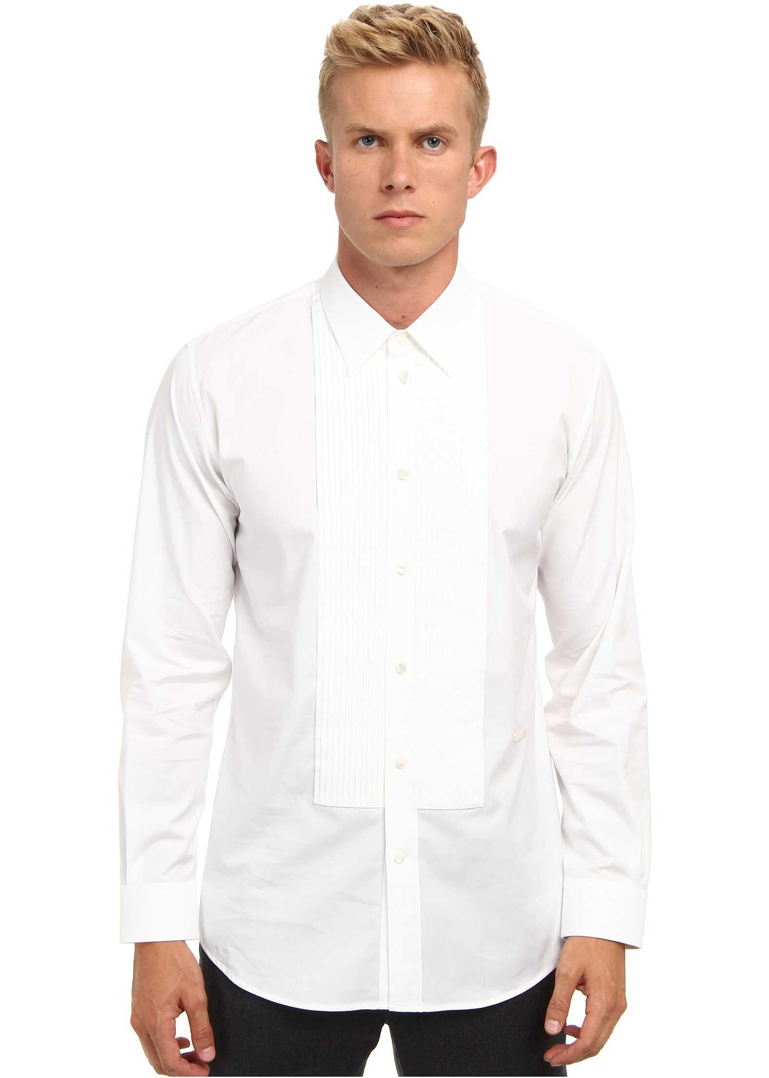 Marc Jacobs Runway Cotton Tuxedo Button Up White