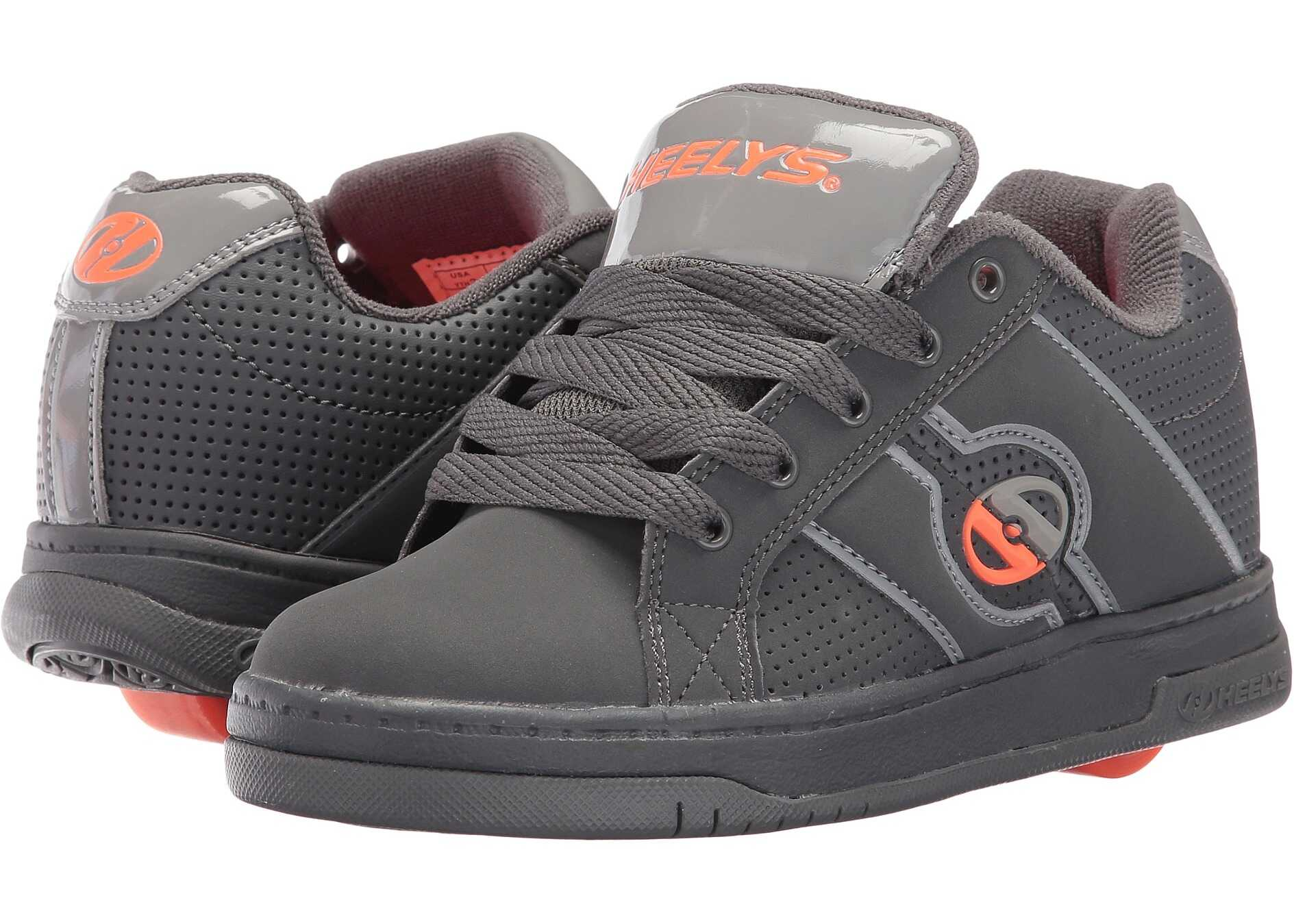 Heelys Split (Little Kid/Big Kid/Mens) Dark Grey/Light Grey/Orange