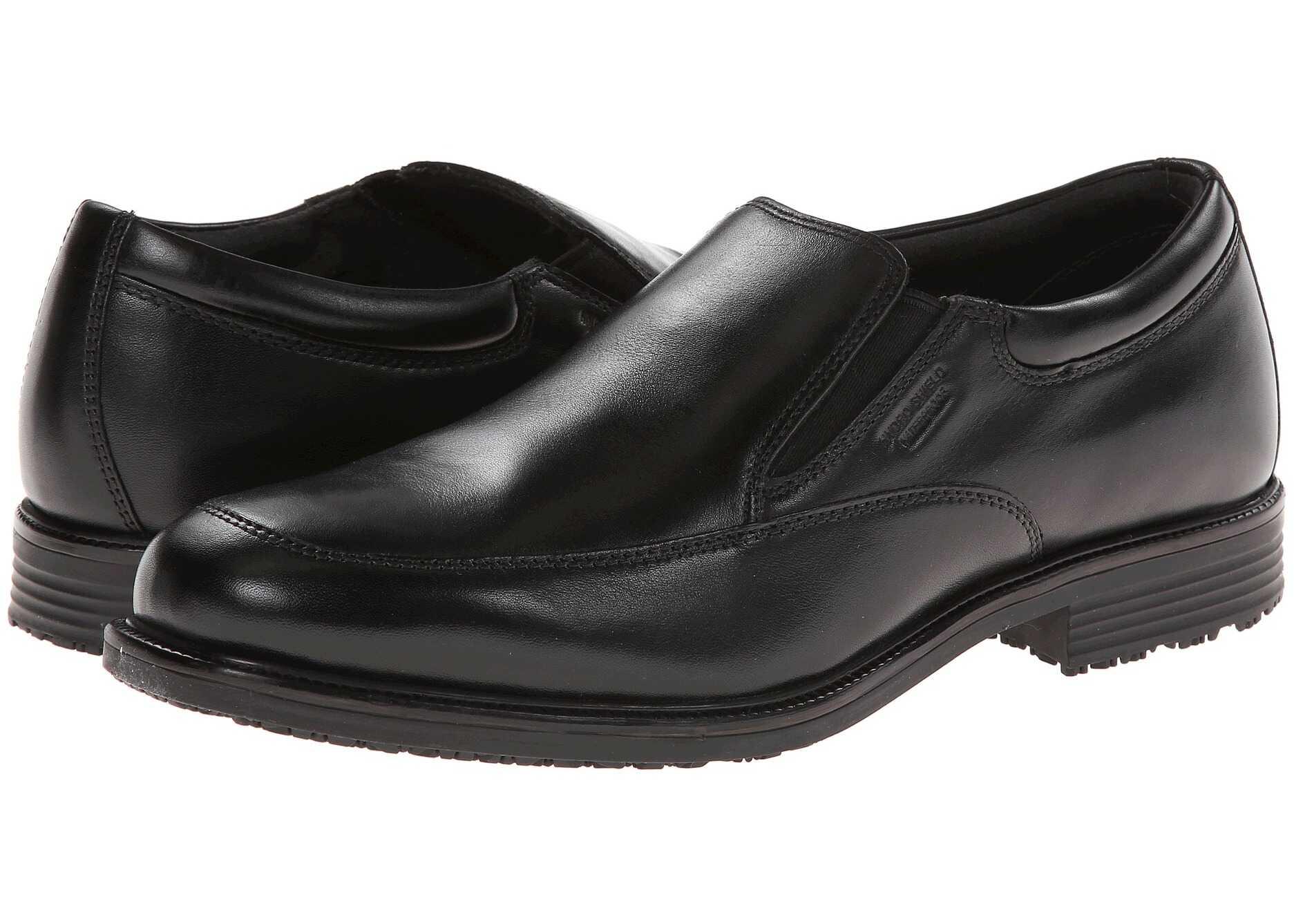 Rockport Lead the Pack Slip-On Black WP Leather