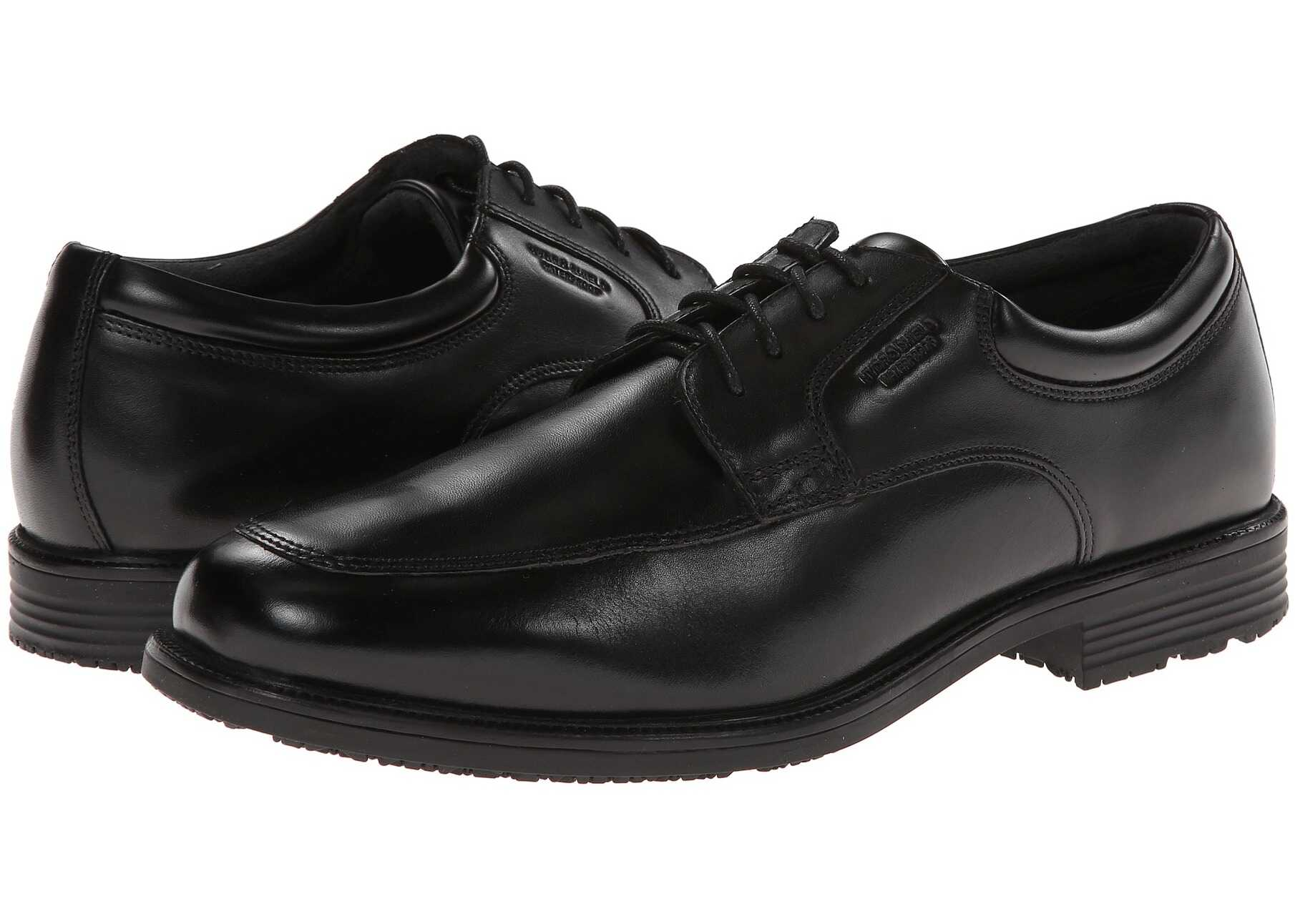 Rockport Lead The Pack Apron Toe Black WP Leather