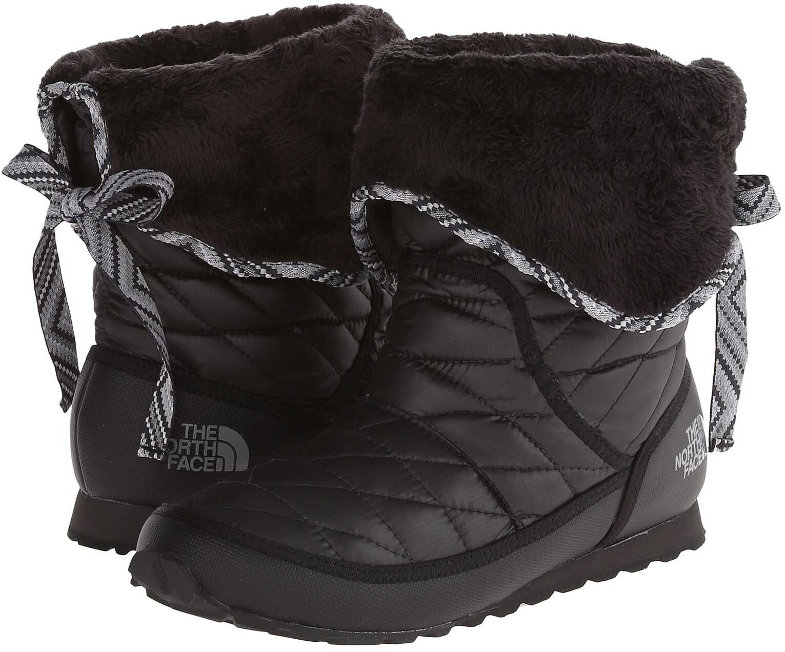 The North Face ThermoBall™ Roll-Down Bootie II Shiny TNF Black/TNF Black (Prior Season)