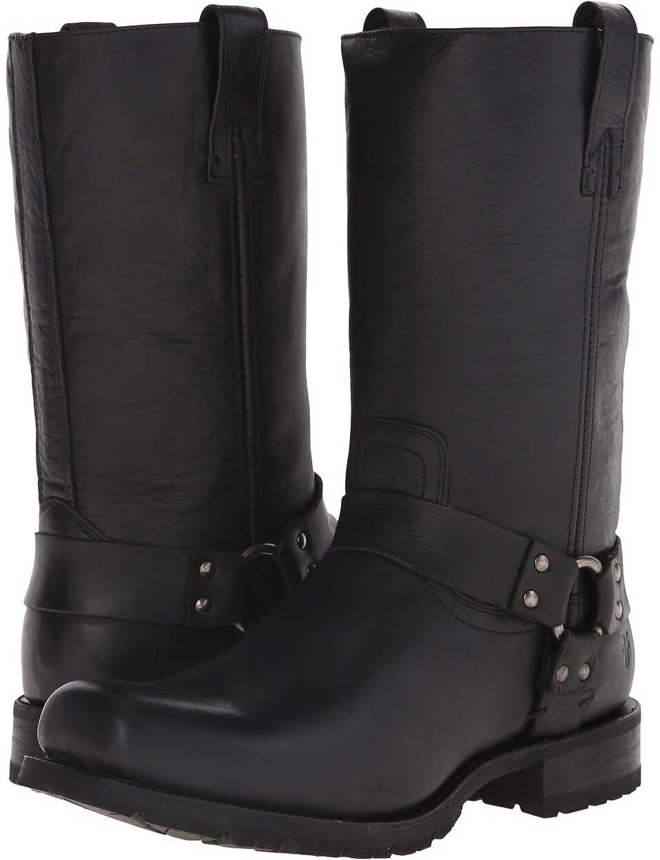 Frye Heath Studded Harness Black Vintage Leather