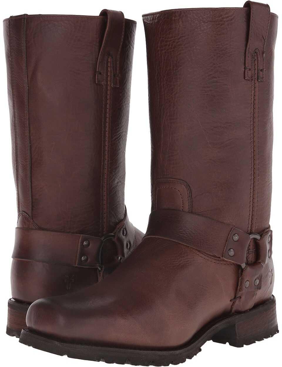 Frye Heath Studded Harness Dark Brown Vintage Leather