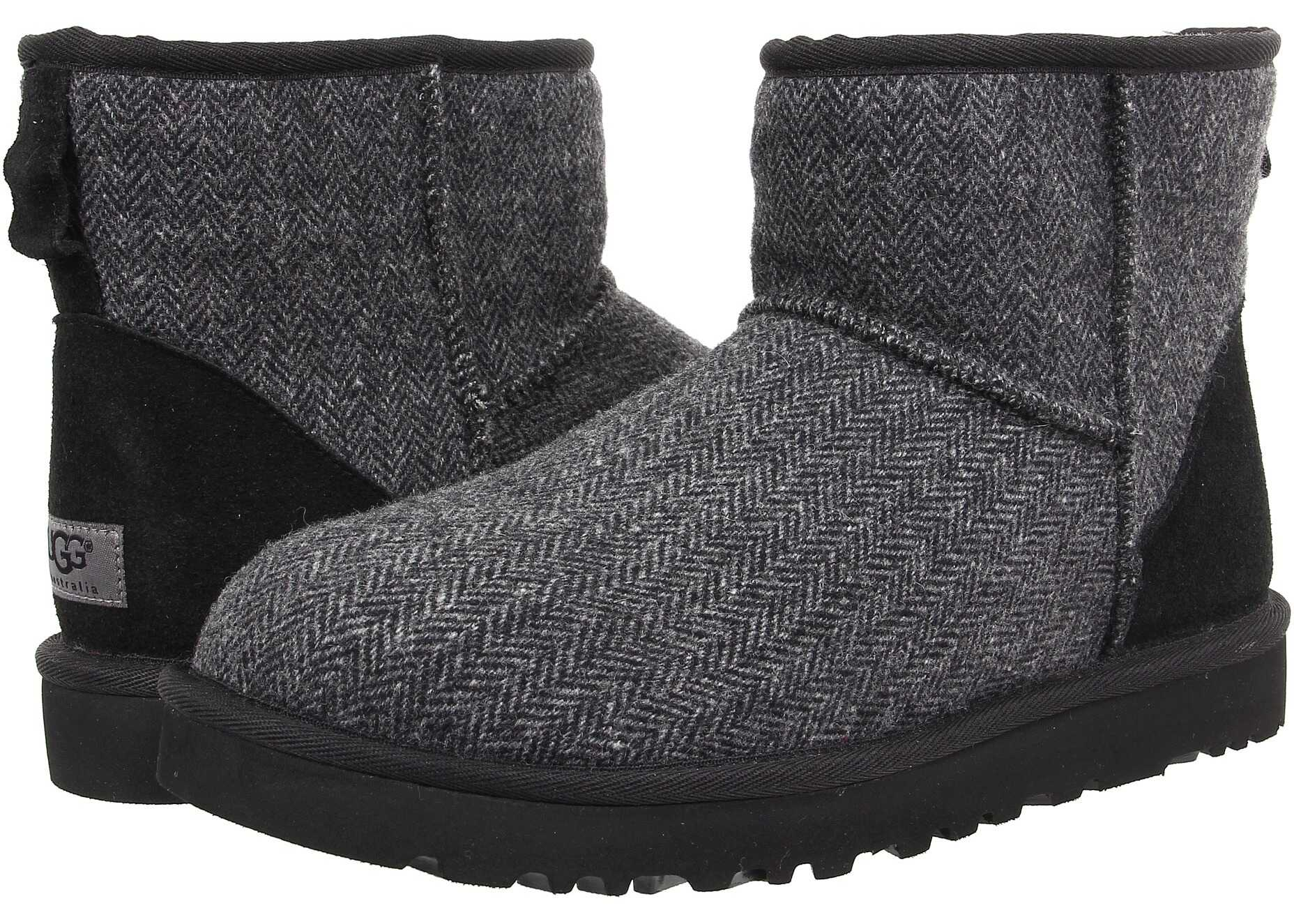 Ghete Barbati Ugg Classic Mini Tweed Black Wool