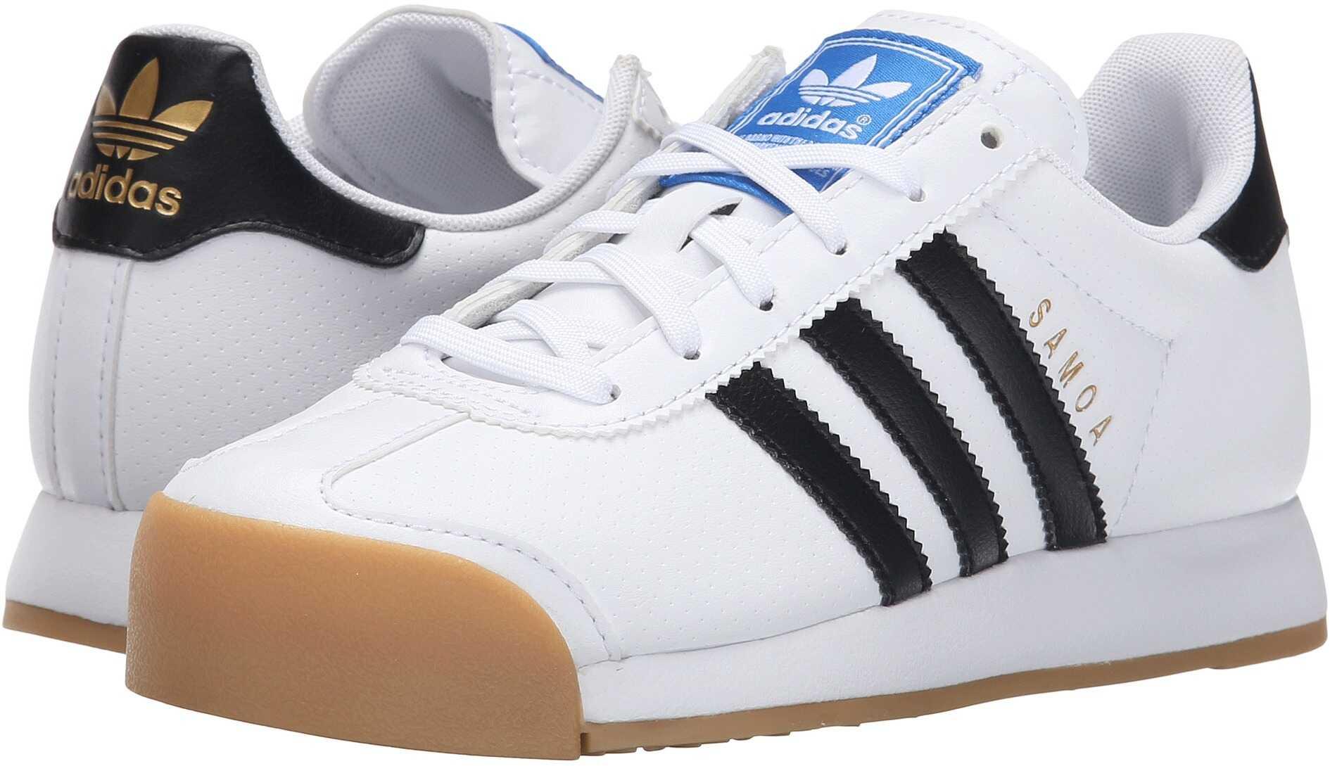 adidas Originals Kids Samoa (Big Kid) White/Black/Gum