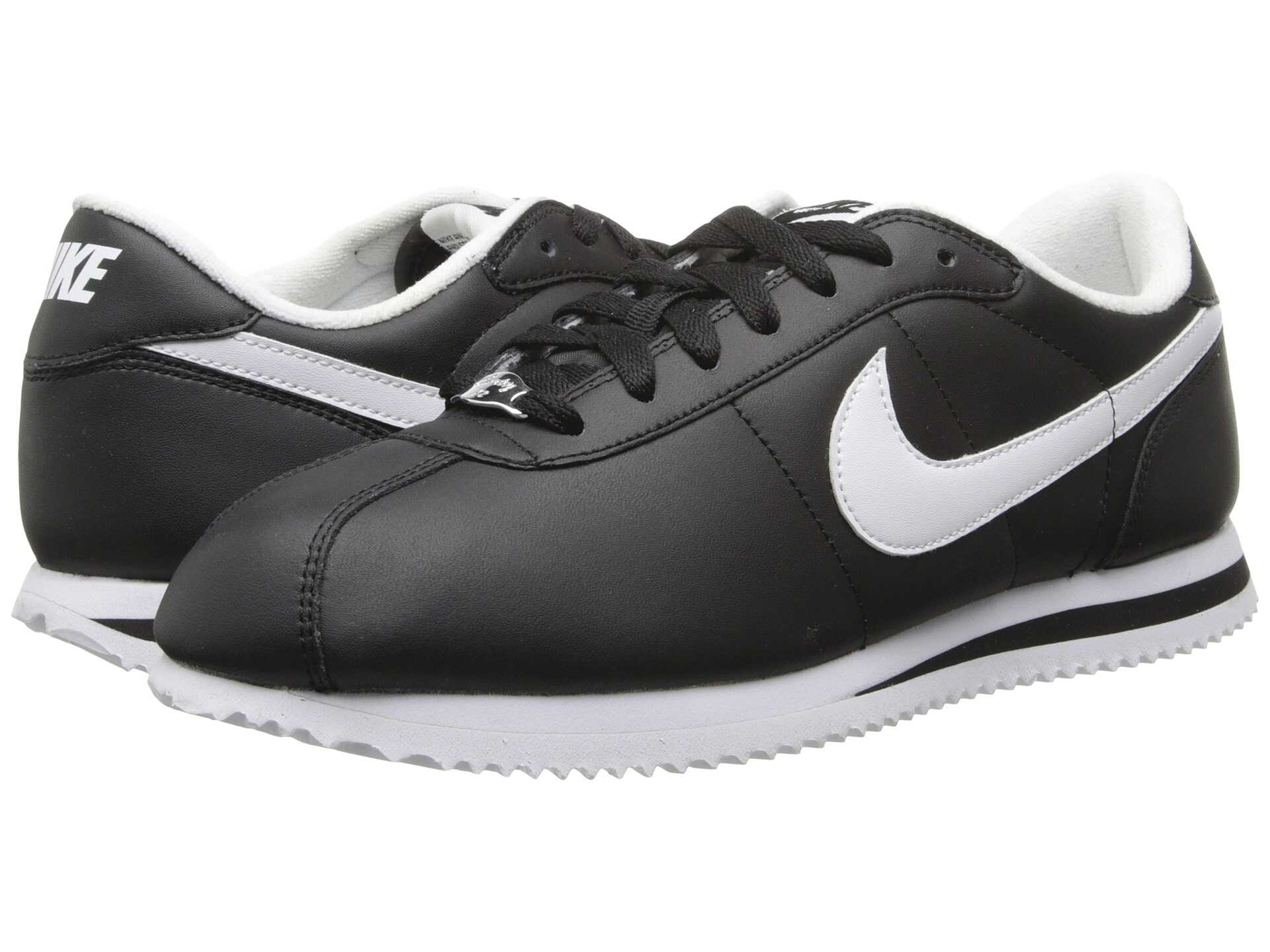 black white nike cortez