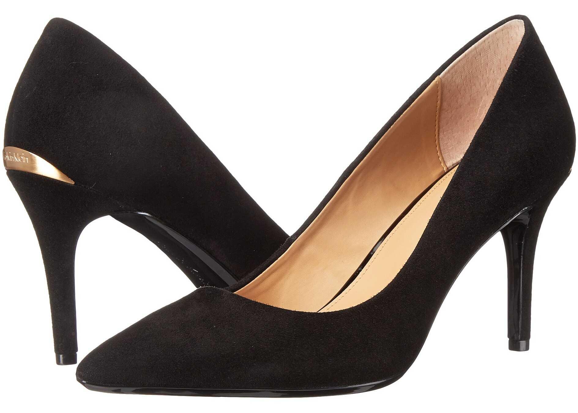 Calvin Klein Gayle Pump Black Leather/Suede
