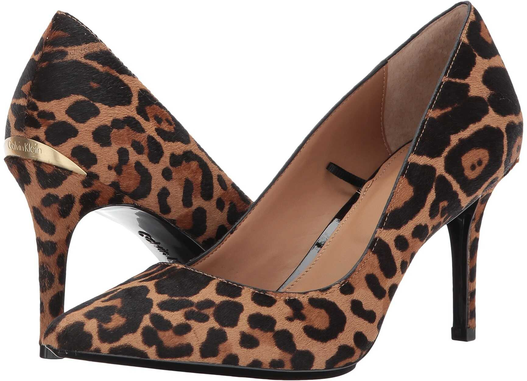 Calvin Klein Gayle Pump Natural Winter Leopard Haircalf