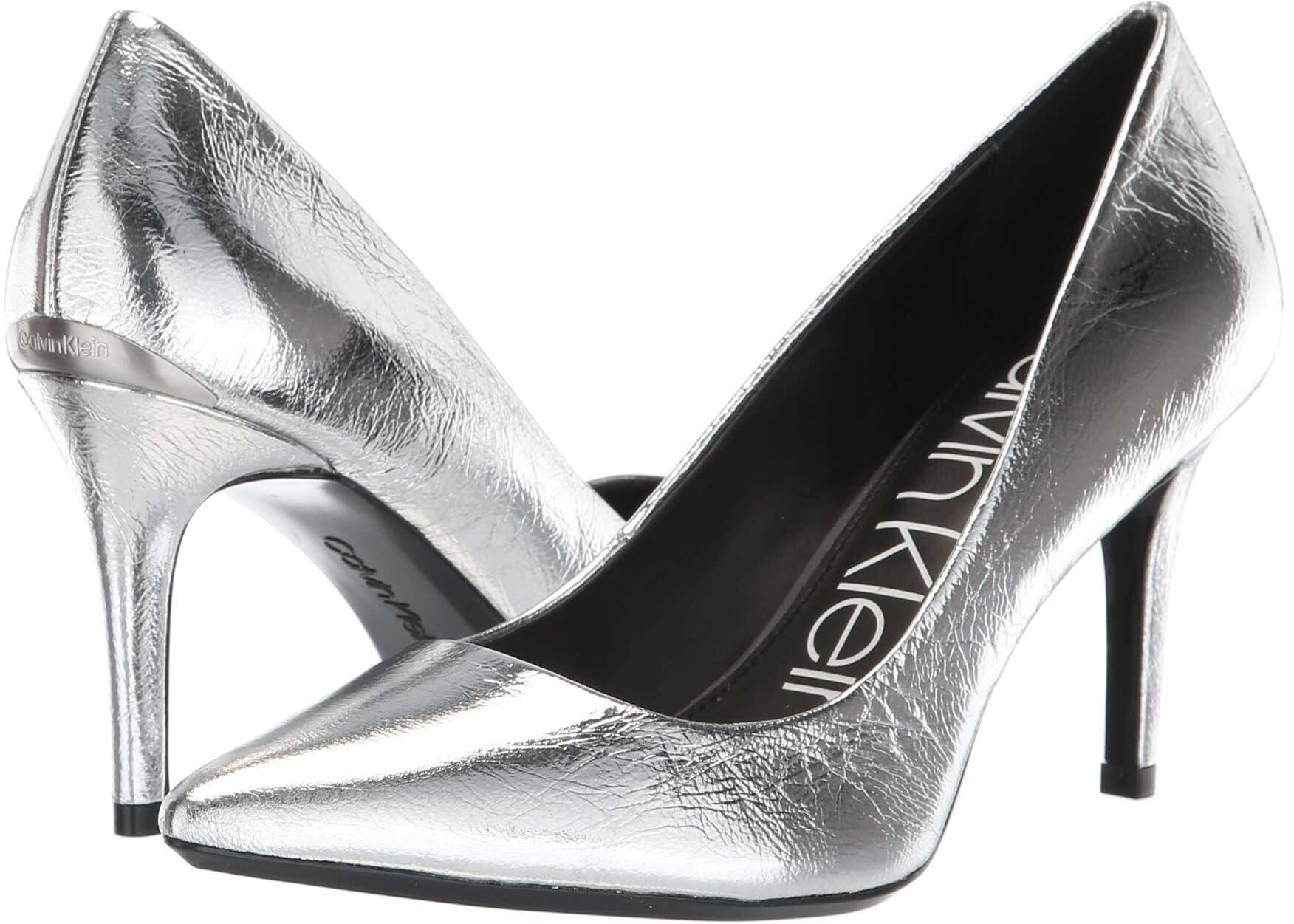 Calvin Klein Gayle Pump Silver Paper Metallic