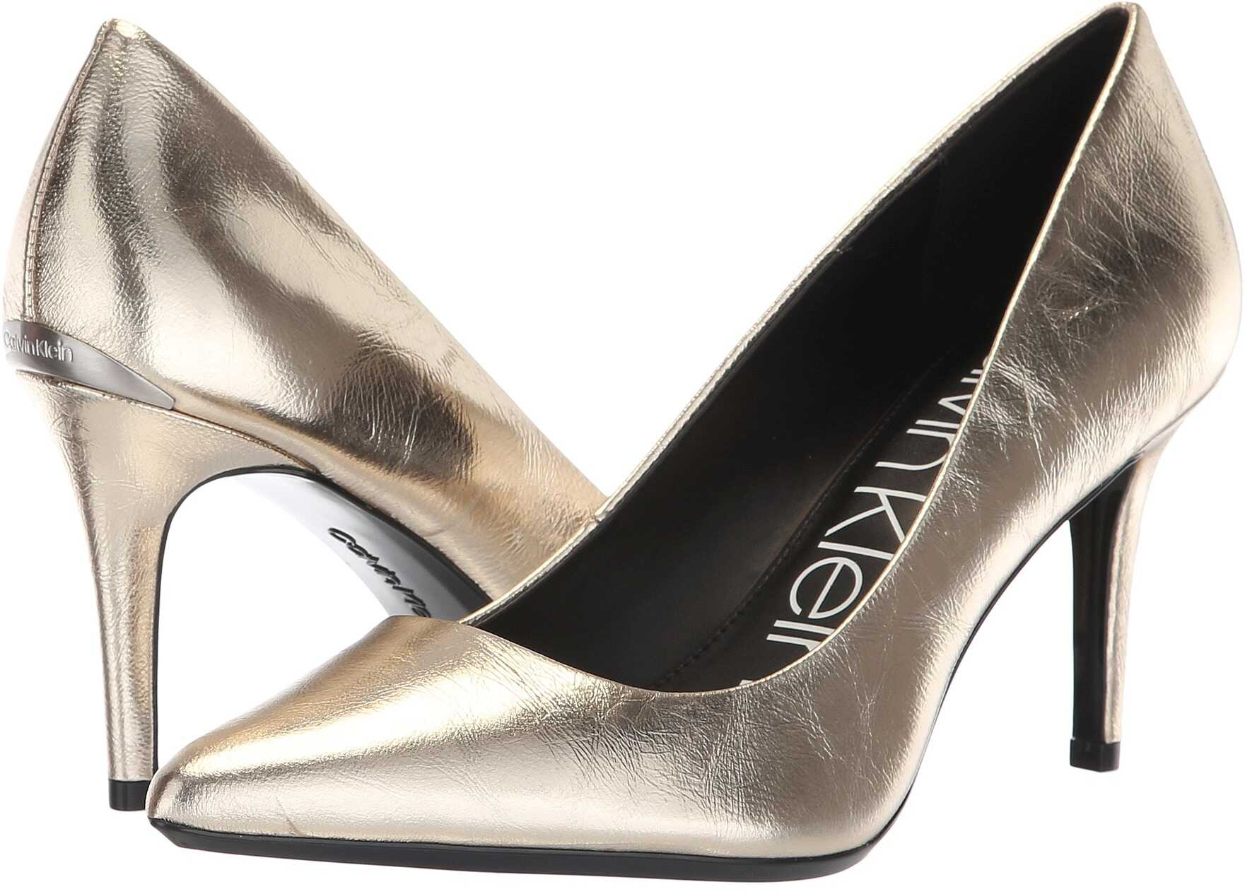 Calvin Klein Gayle Pump Soft Gold Paper Metallic