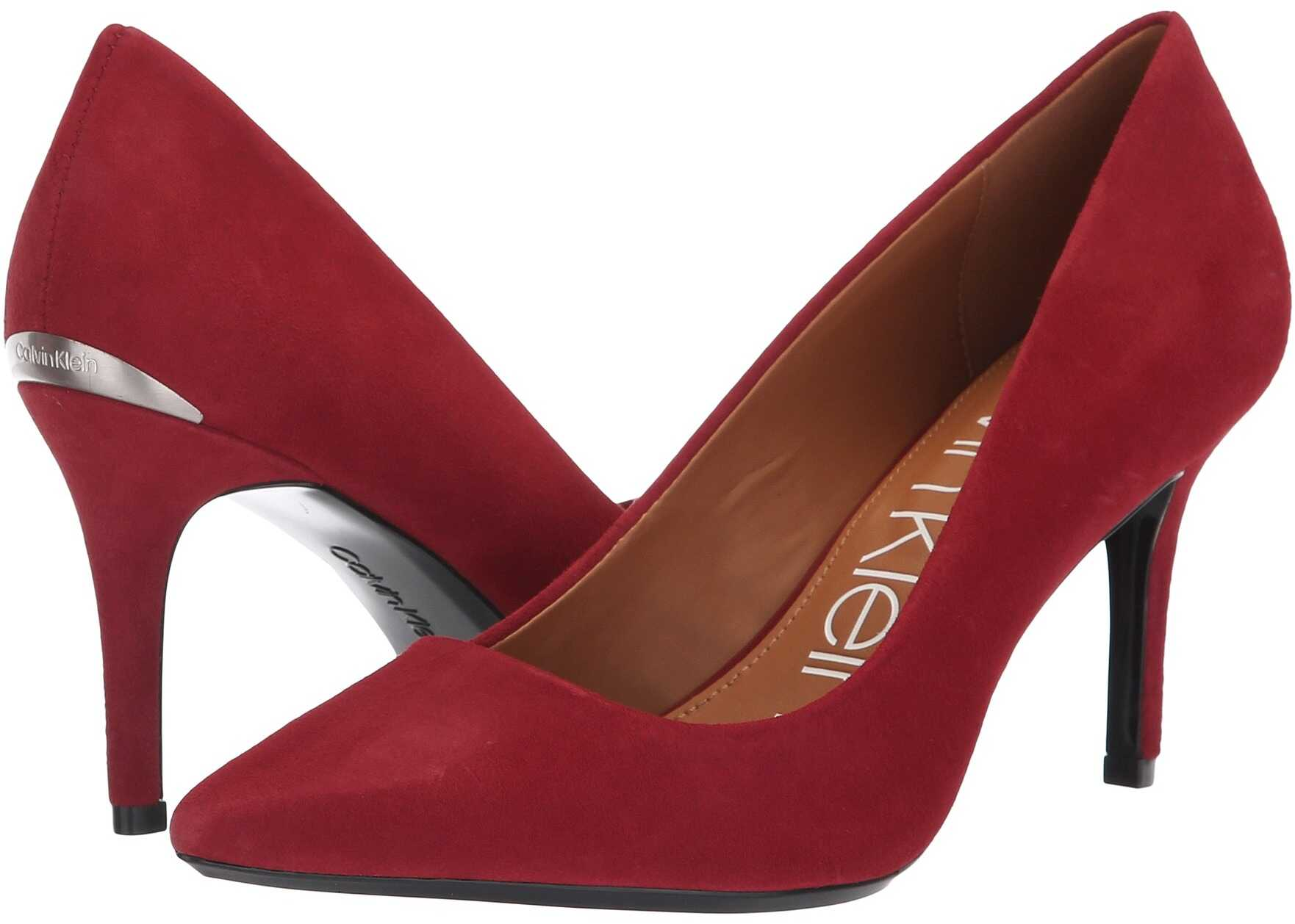 Calvin Klein Gayle Pump Red Rock Kid Suede