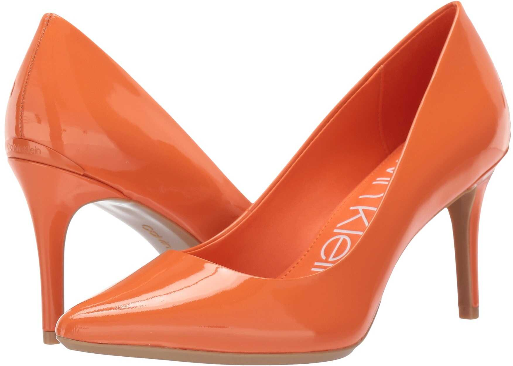 Calvin Klein Gayle Pump Orange Popsicle Patent