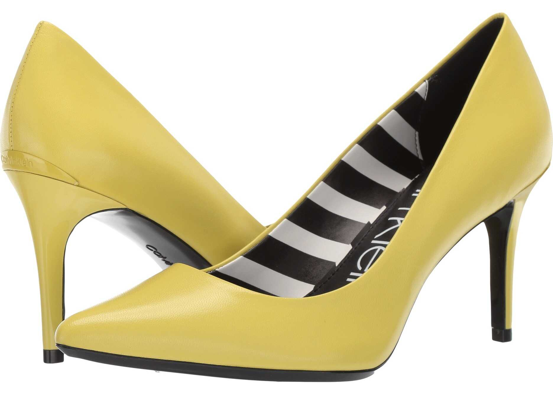 Calvin Klein Gayle Pump Lime Leather Stripes