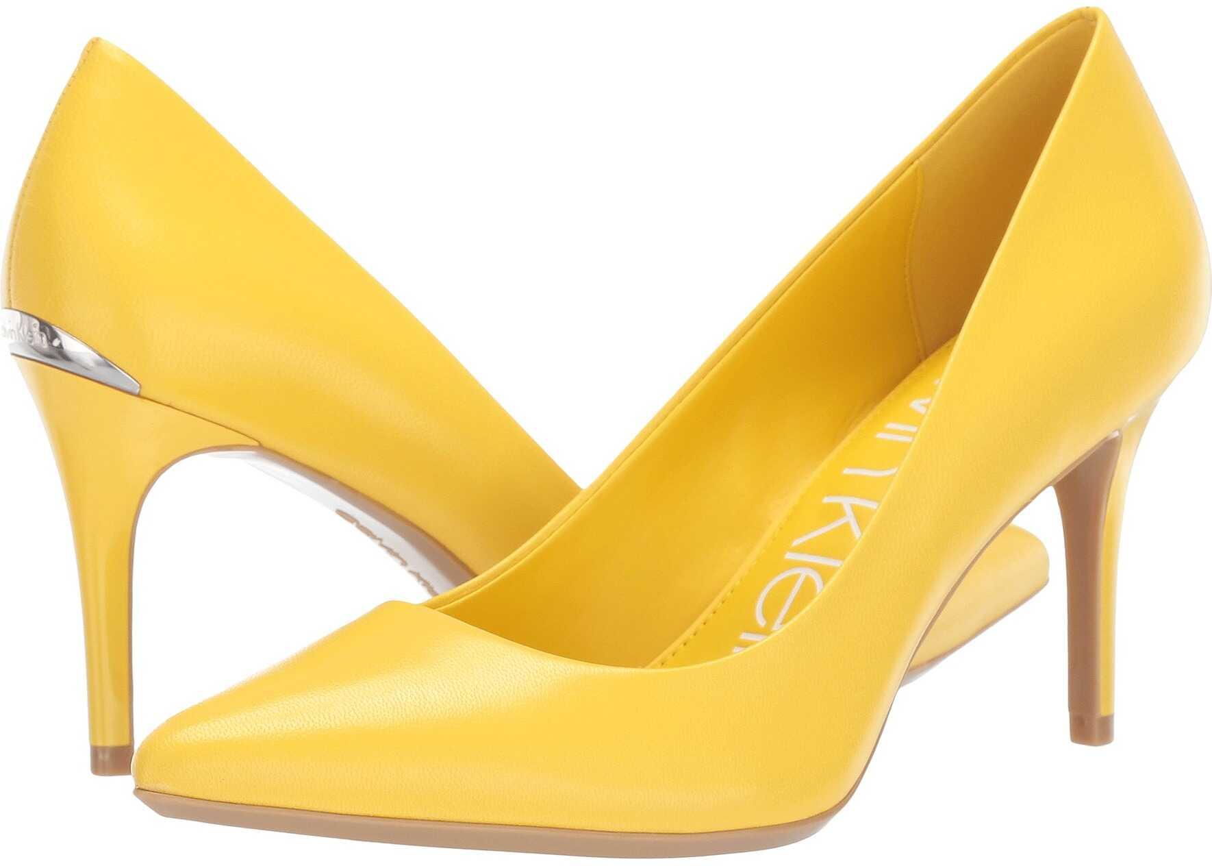 Calvin Klein Gayle Pump Lemon Leather