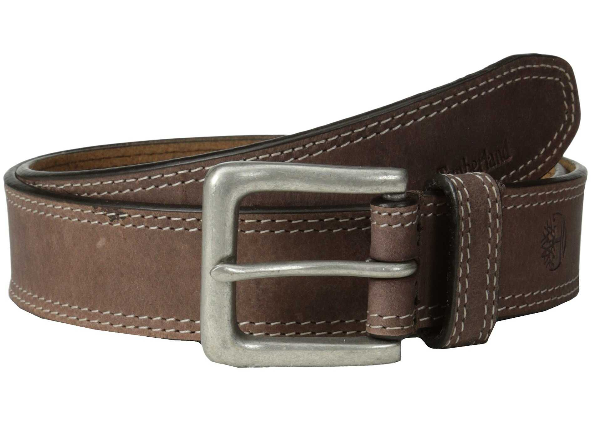 Timberland 35mm Boot Leather Belt Dark Brown