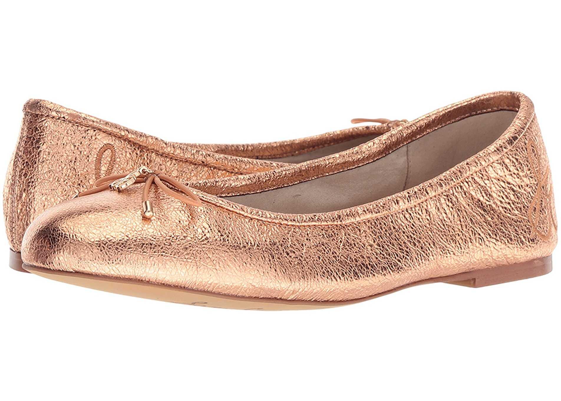 Sam Edelman Felicia Copper Penny Soft Crinkle Metallic Leather
