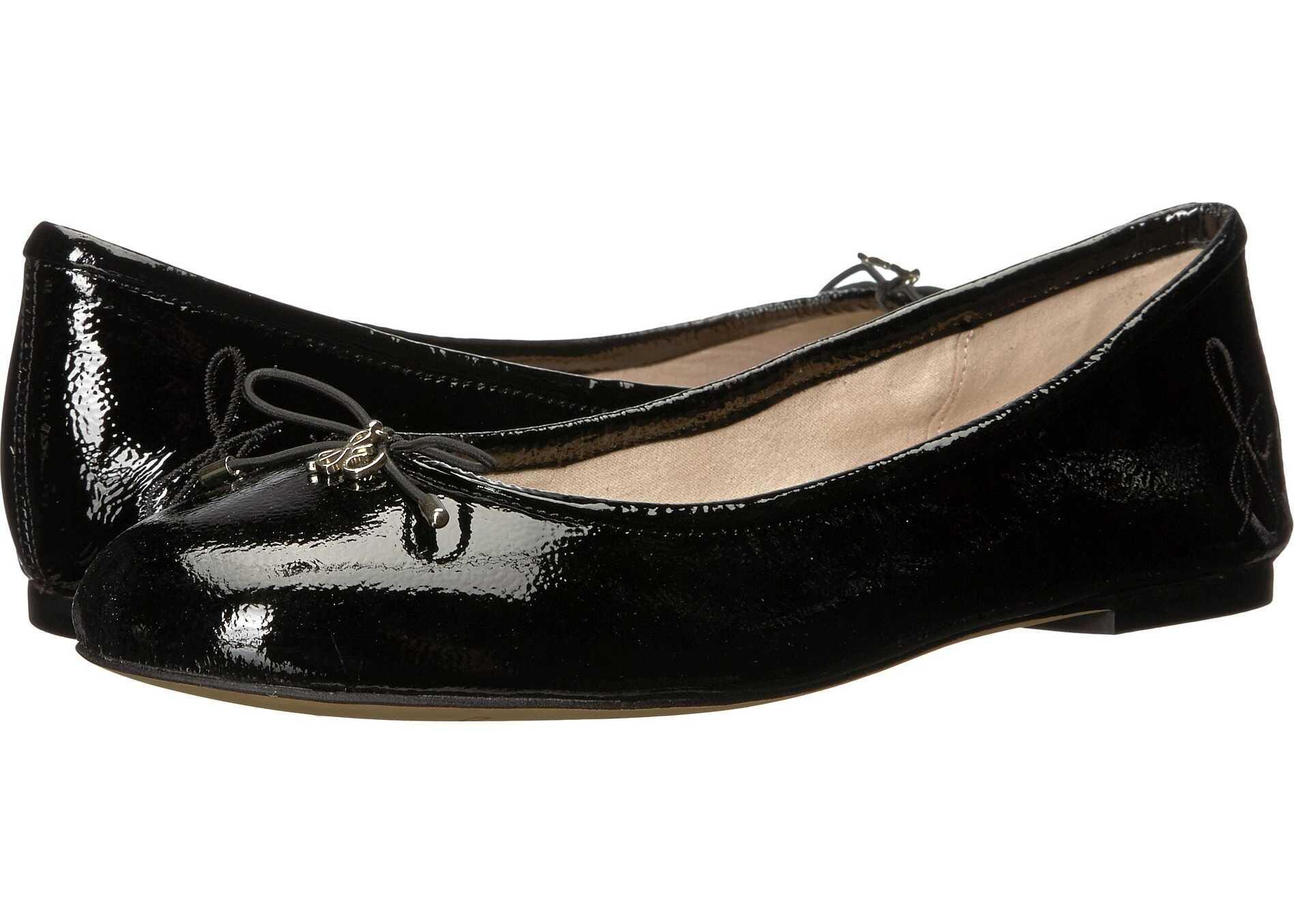 Sam Edelman Felicia Black Goat Crinkle Patent Leather