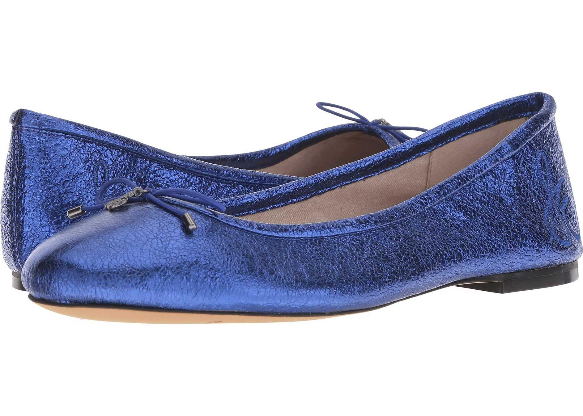 Sam Edelman Felicia Royal Blue Soft Crinkle Metallic Leather