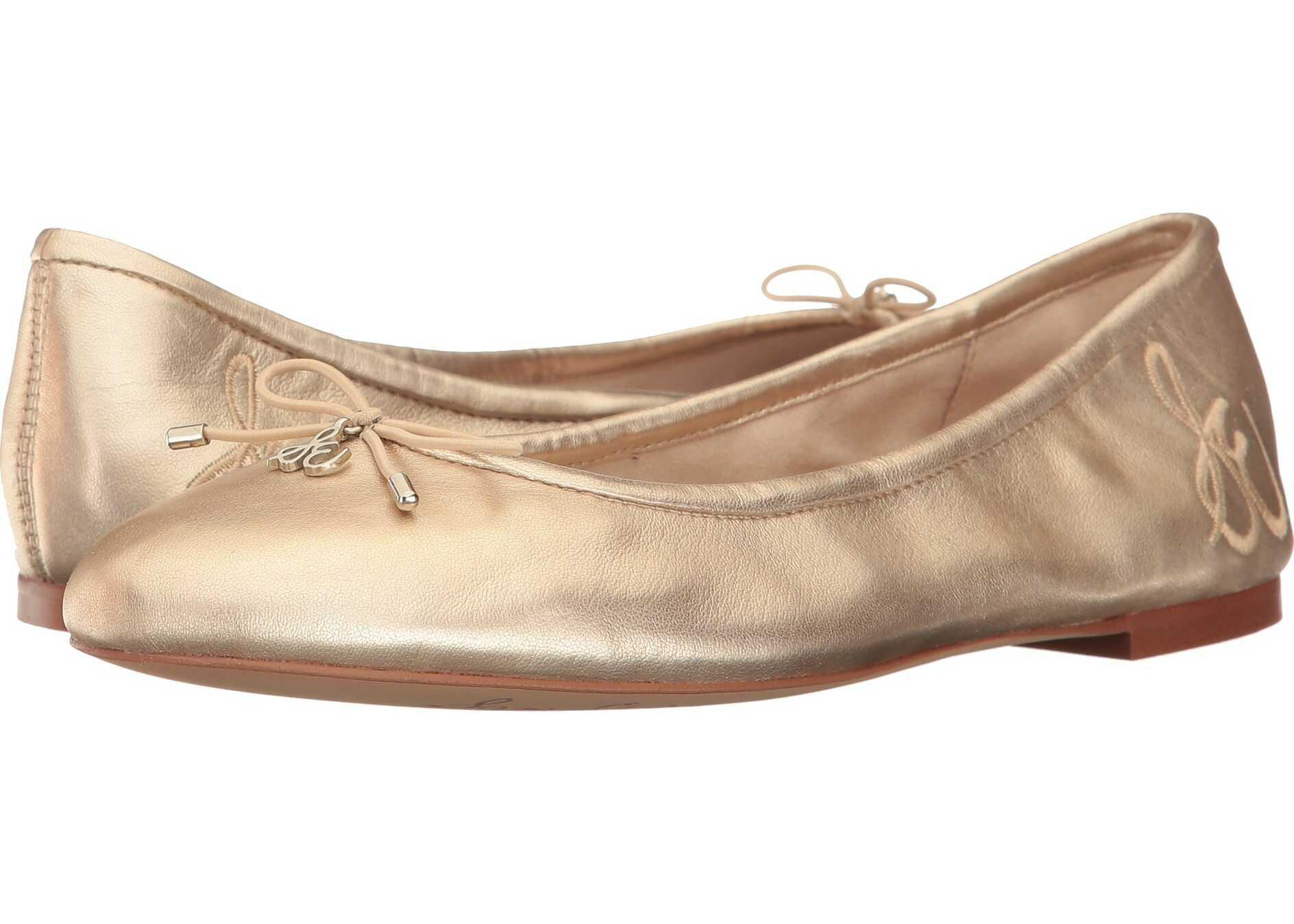 Sam Edelman Felicia Molten Gold Soft Metallic Sheep Leather