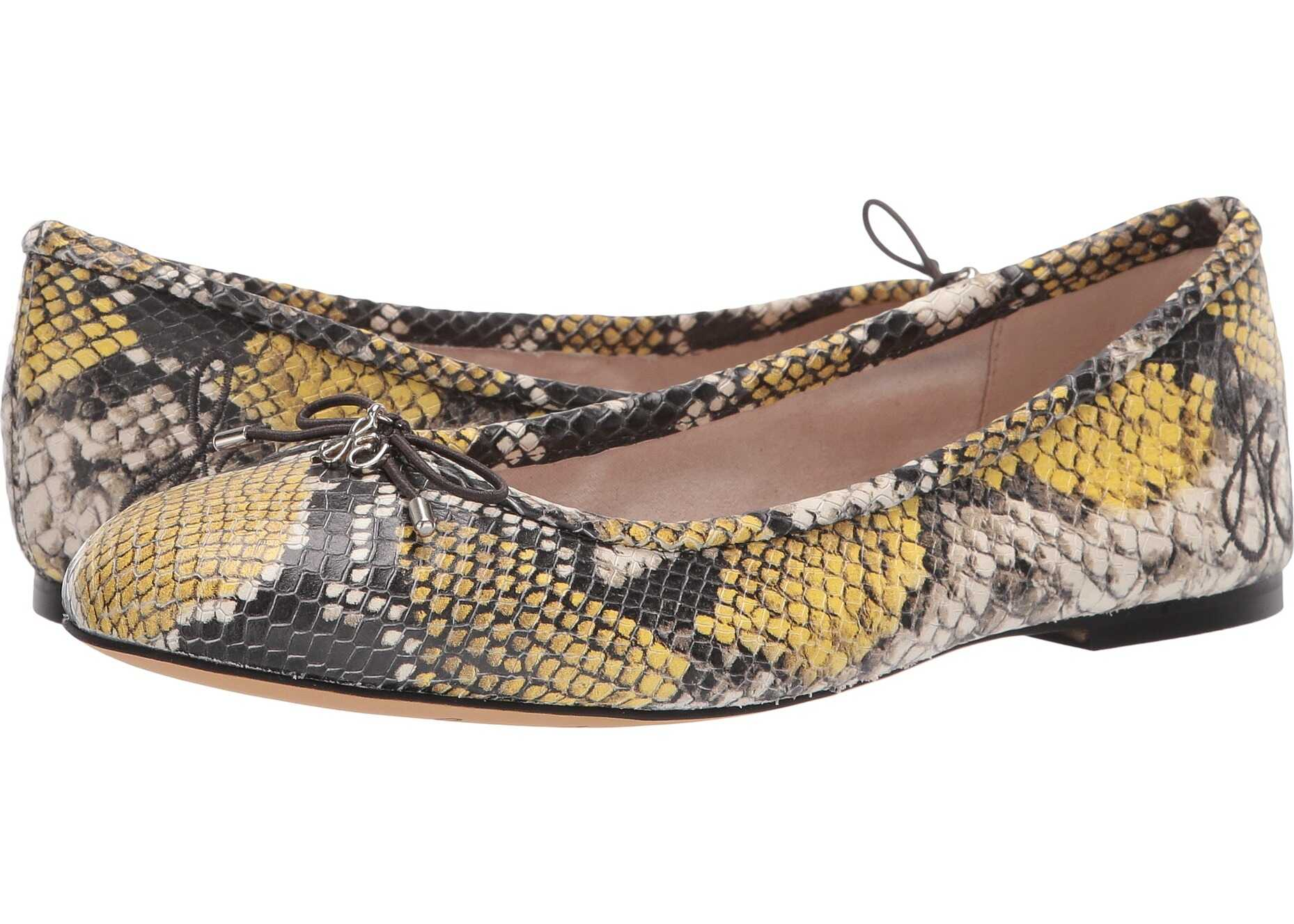 Sam Edelman Felicia Tuscan Yellow Multi Exotic Snake Print Leather