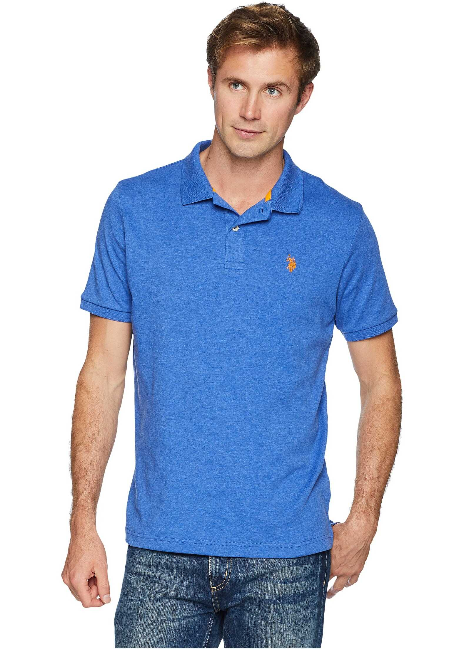 U.S. POLO ASSN. Solid Interlock Polo Cobalt Heather