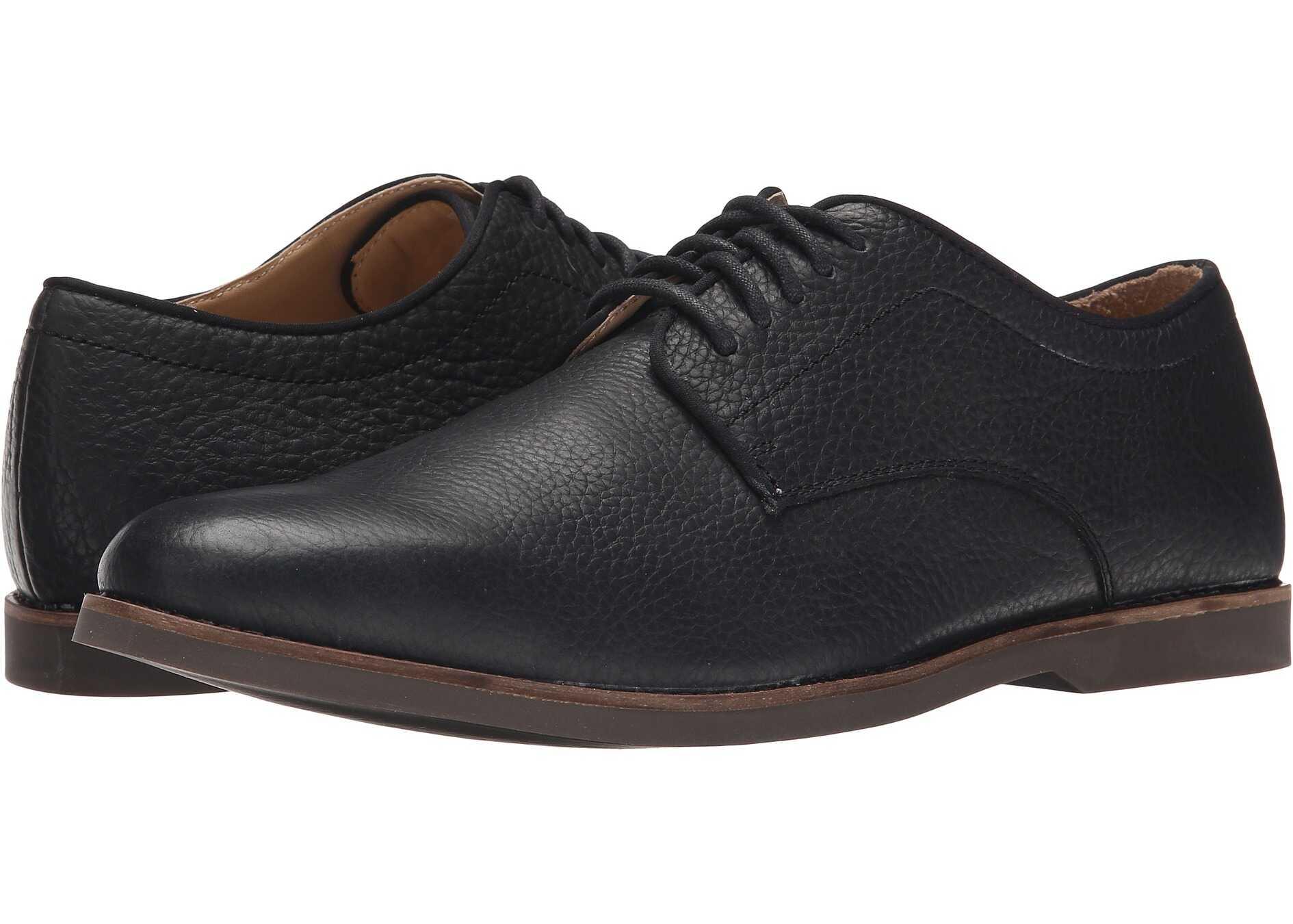 Sebago Norwich Oxford Black Bison Leather