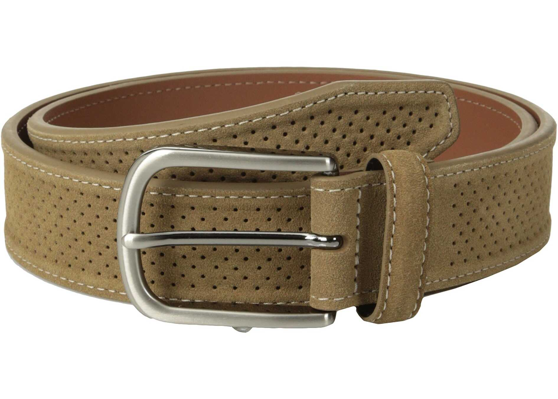 Johnston & Murphy Perforated Suede Tan