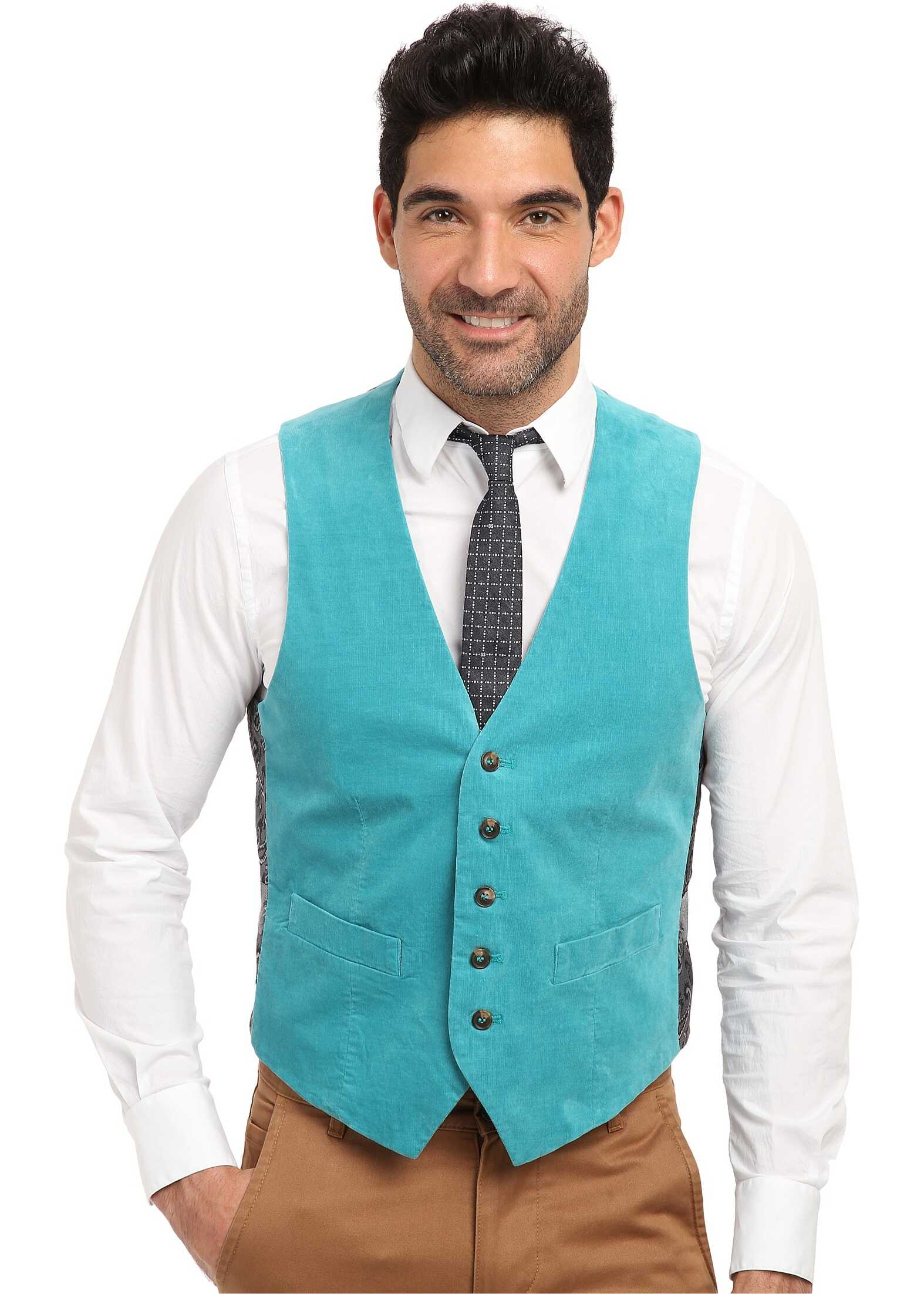 Mr.Turk Irving Vest in Turquoise* Turquoise