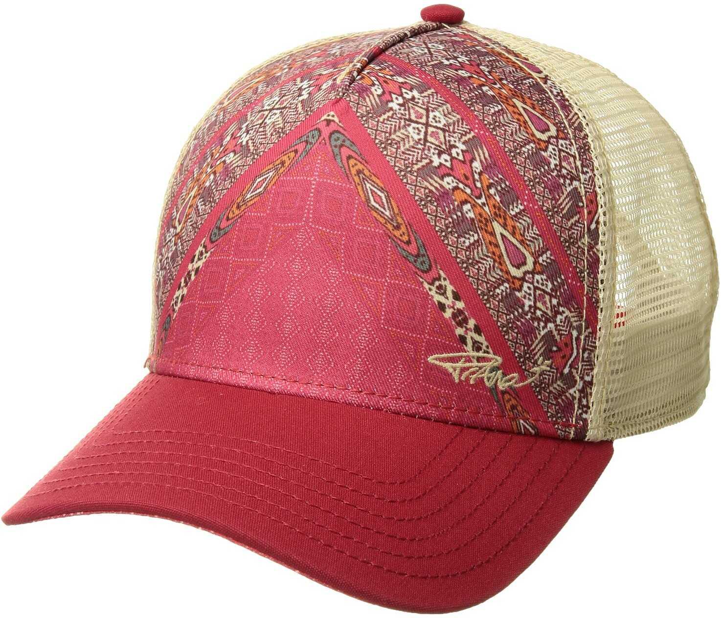 Prana La Viva Trucker Hat Carmine Pink Marrakesh