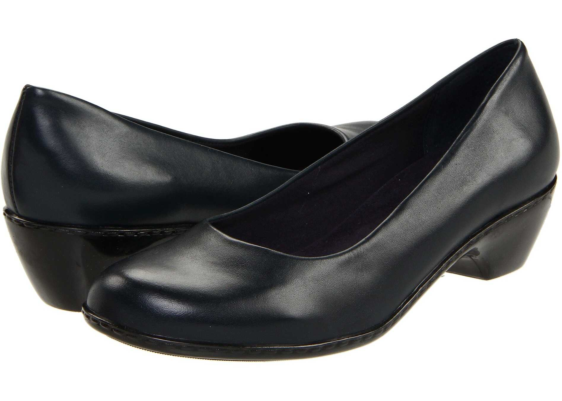 Pantofi Cu Toc Walking Cradles Craft Navy Leather