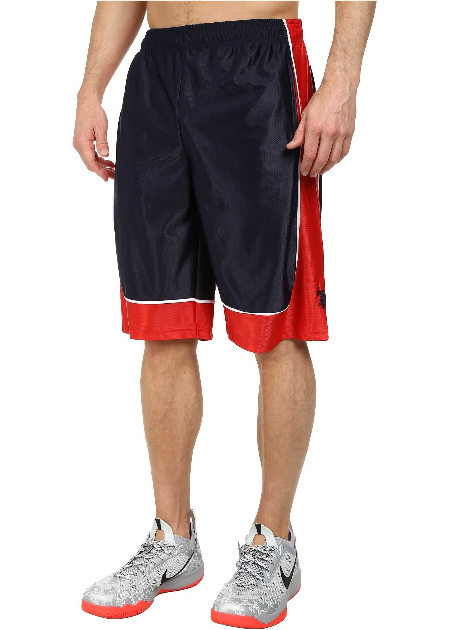 U.S. POLO ASSN. Athletic Shorts with Dazzle Side Panel Classic Navy