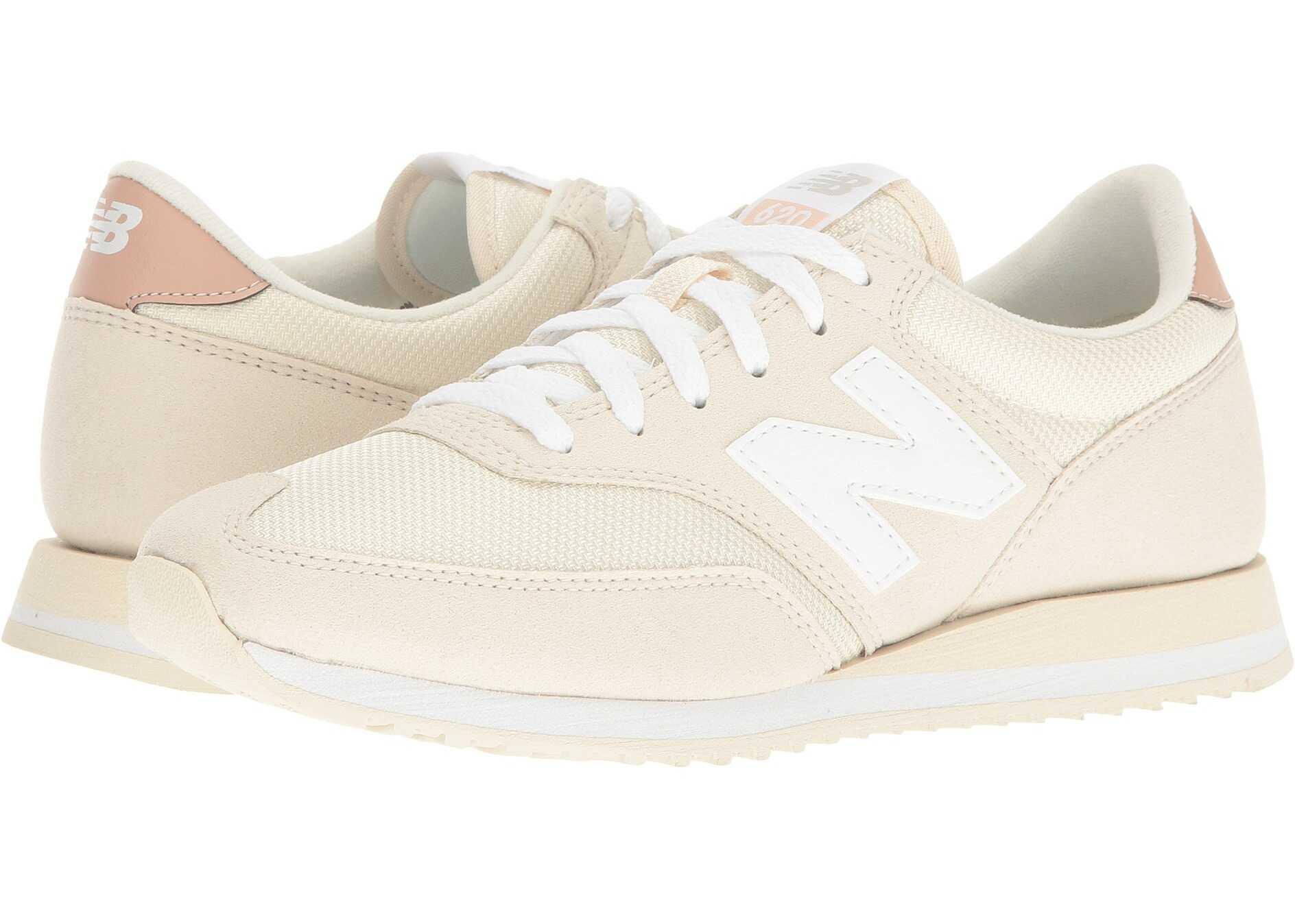 New Balance Classics CW620 White Asparagus/Pink