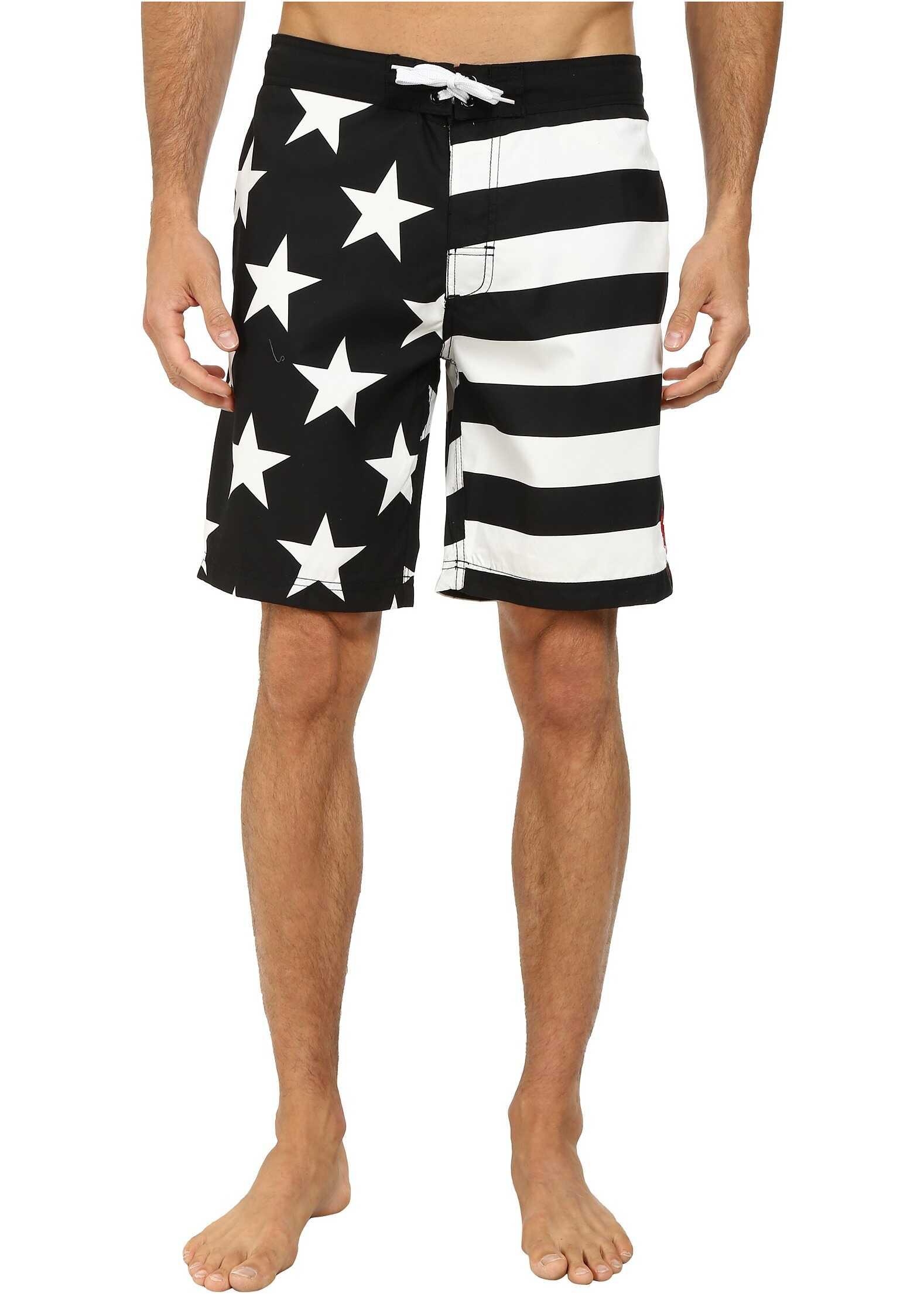 U.S. POLO ASSN. Americana Boardshorts Black