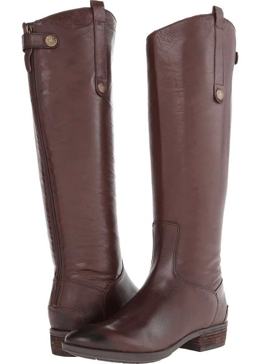 Sam Edelman Penny Leather Riding Boot Dark Brown