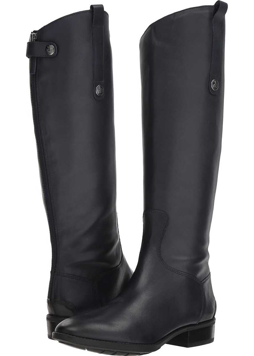 Sam Edelman Penny Leather Riding Boot Inky Navy Basto Crust Tumbled Leather