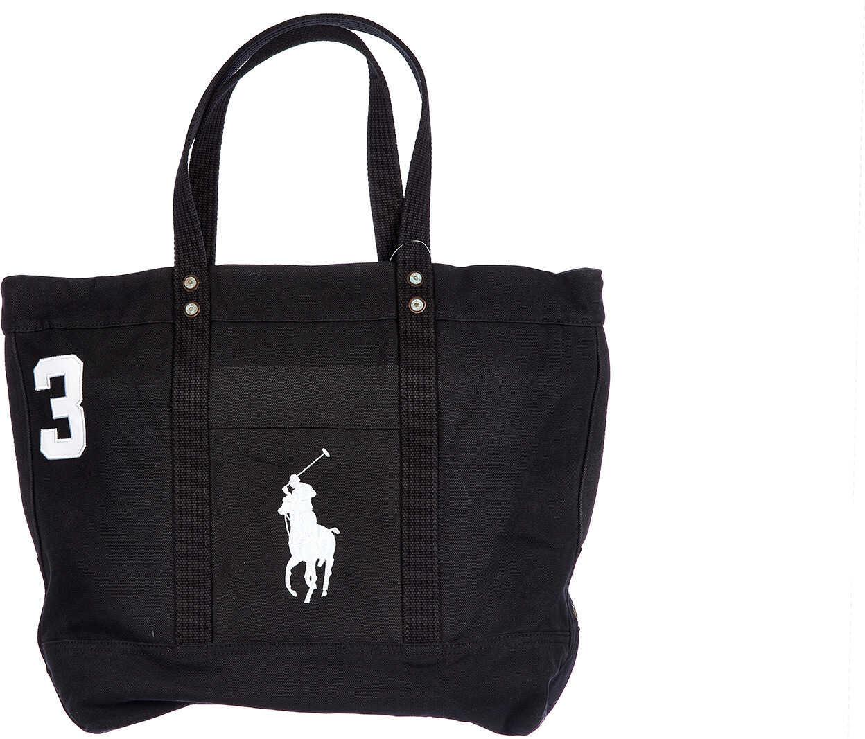 Ralph Lauren Handbag Canvas Black