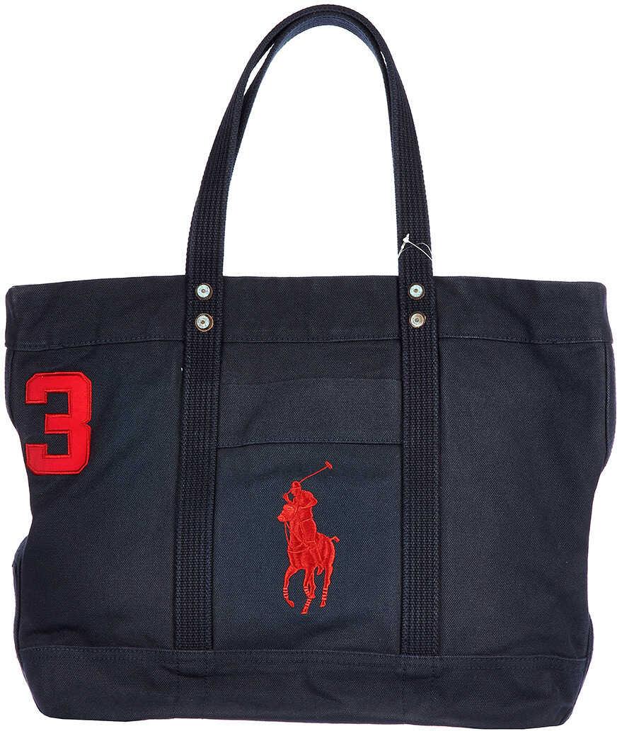 Ralph Lauren Handbag Canvas Aviator Blue