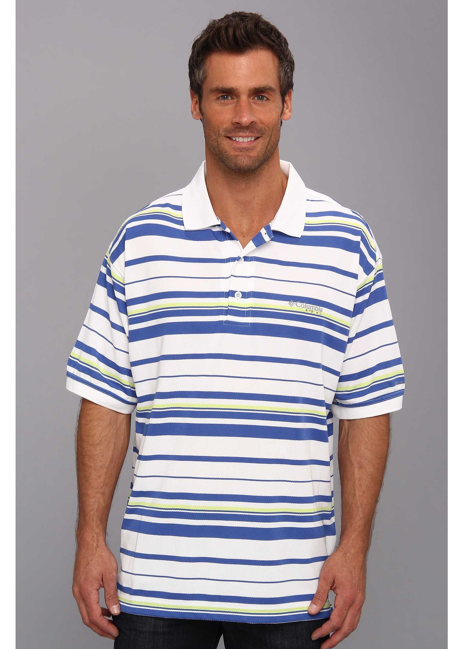 Columbia Super Cast™ S/S Polo Vivid Blue