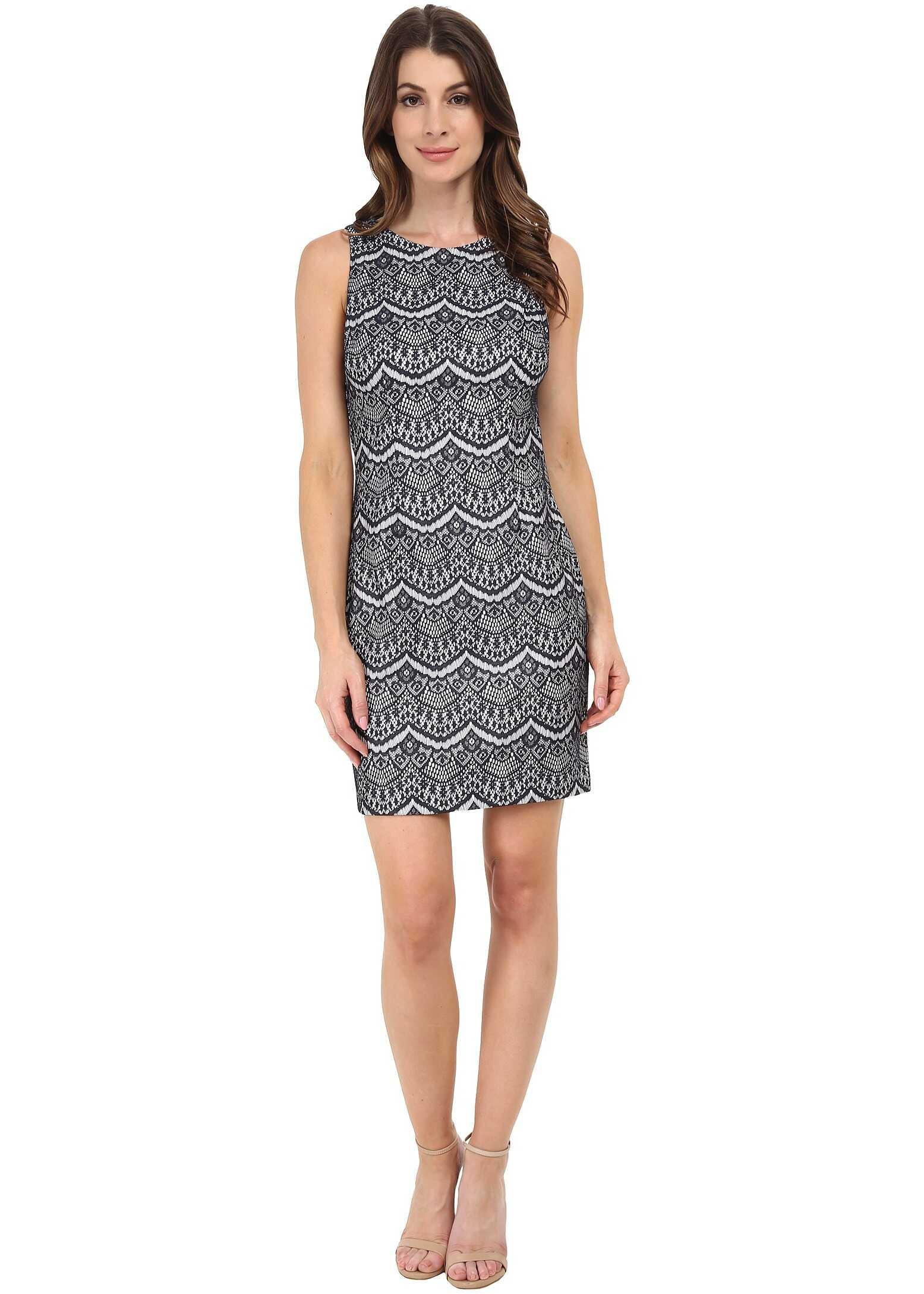 Jessica Simpson Lace Sheath Dress Navy/Ivory