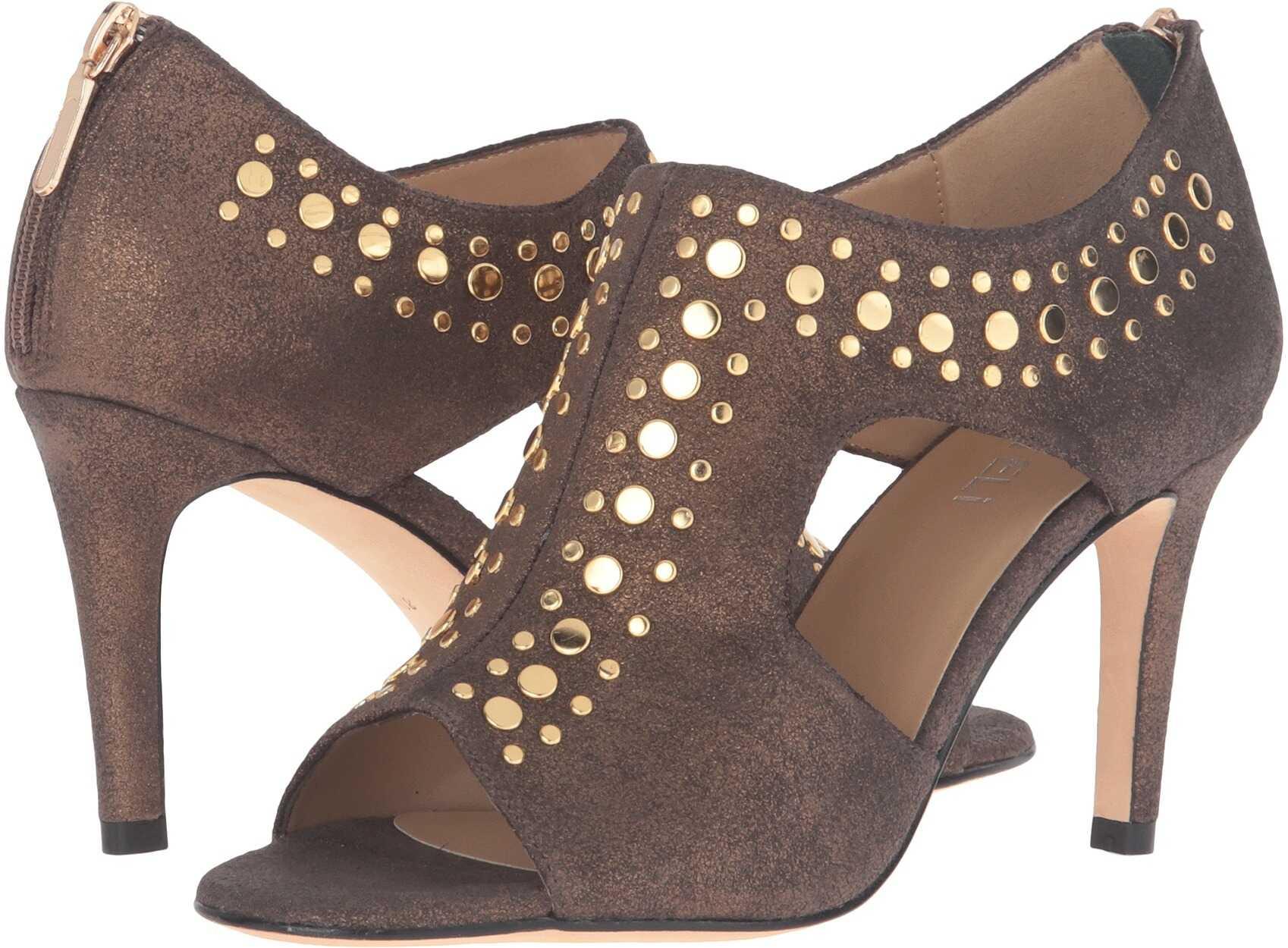 Pantofi Cu Toc Vaneli Baccy Bronze Metal