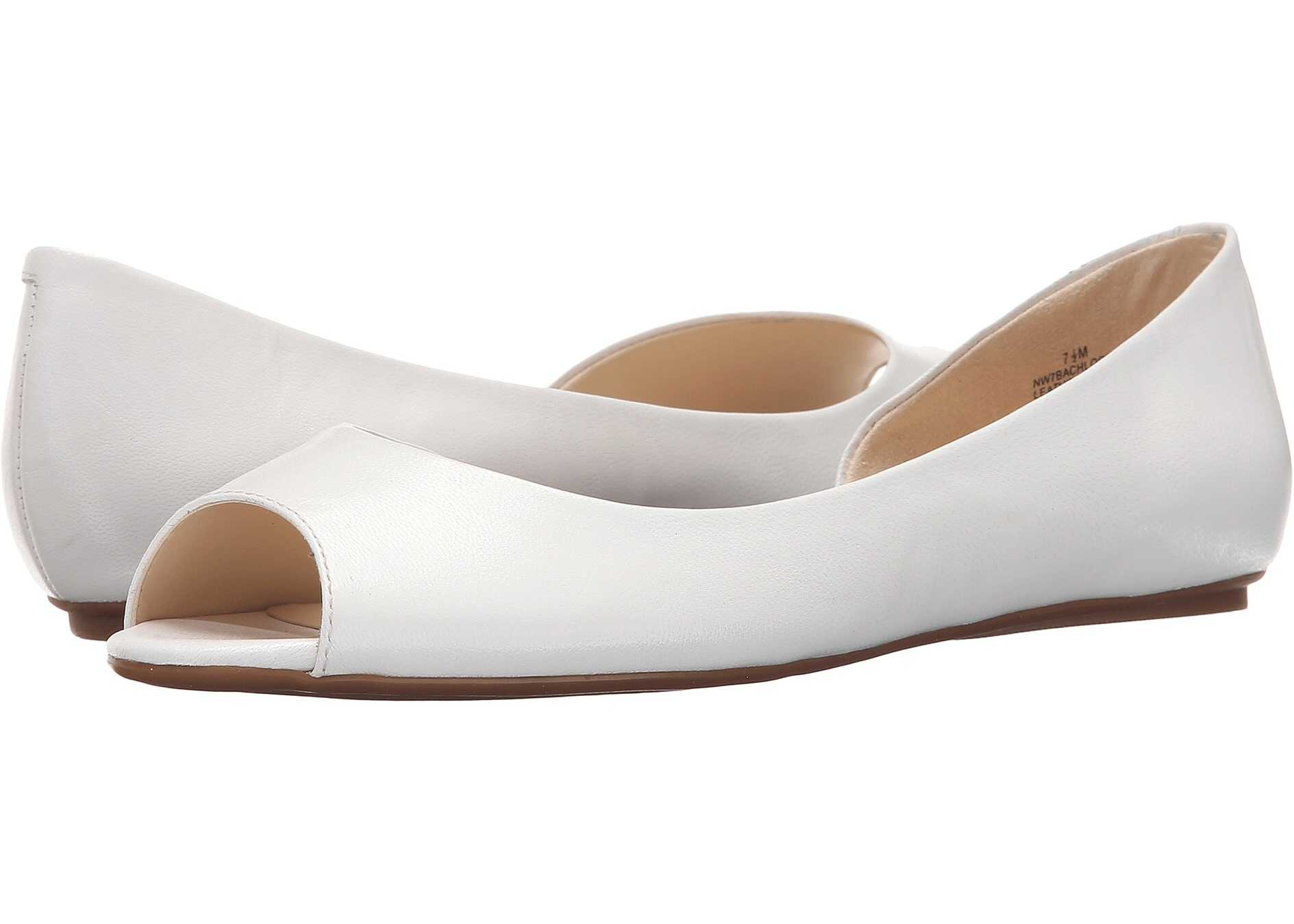 Balerini Femei Nine West Bachloret White Leather