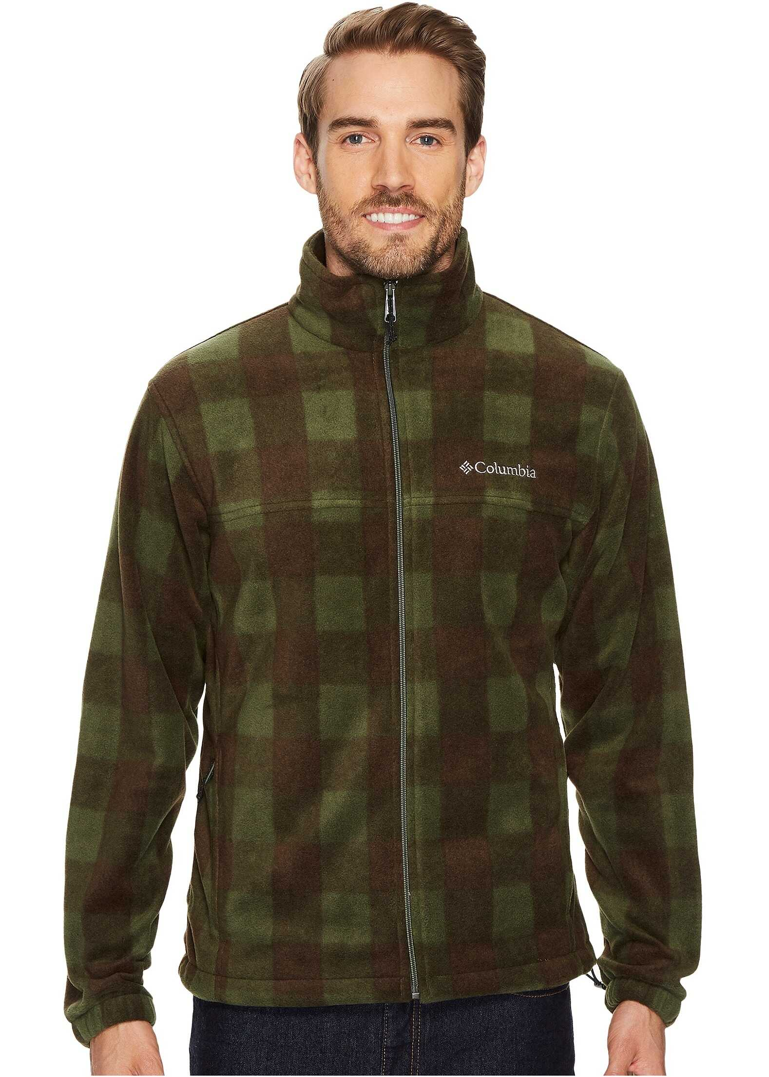 Columbia Steens Mountain™ Print Jacket Surplus Green Plaid