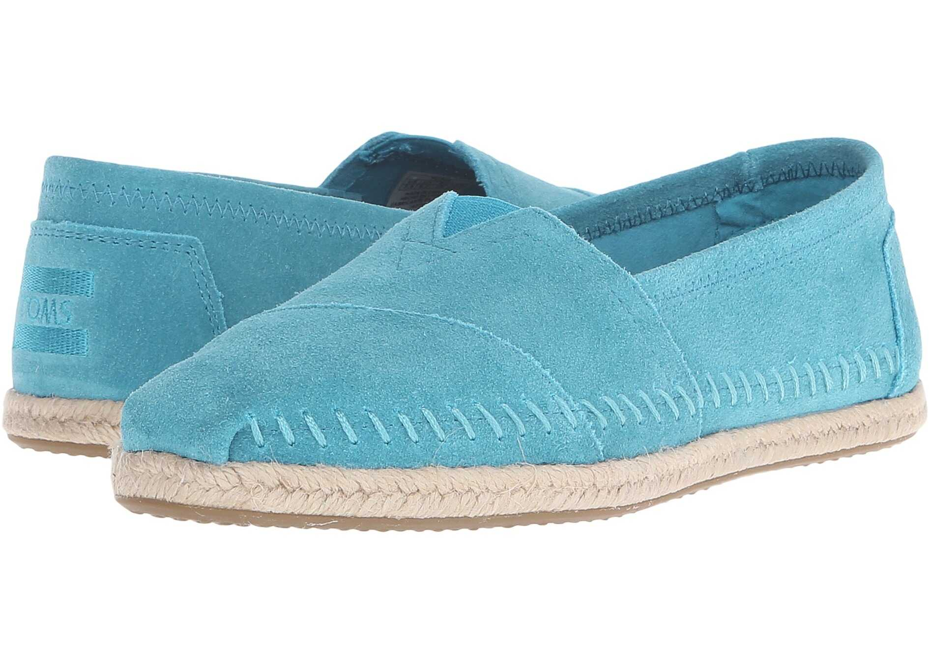 TOMS Seasonal Classics Turquoise Suede/Rope