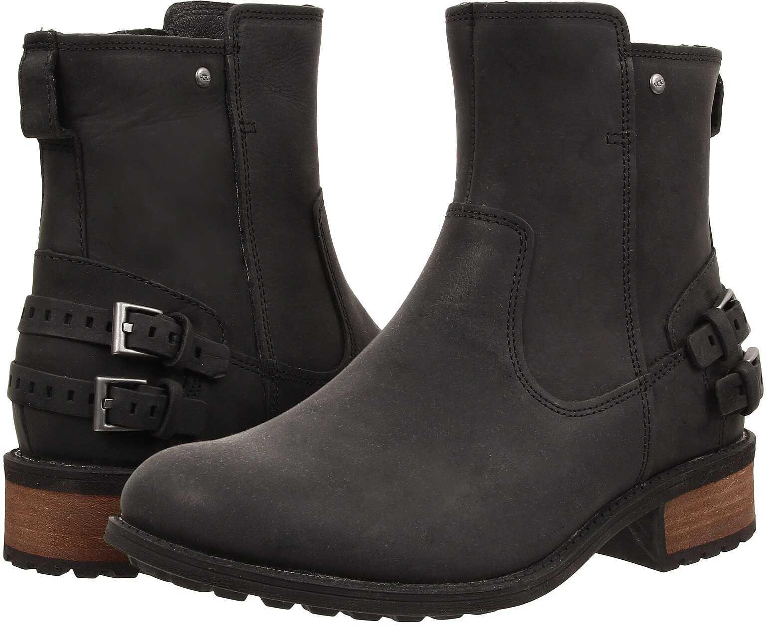 UGG Orion Black Leather